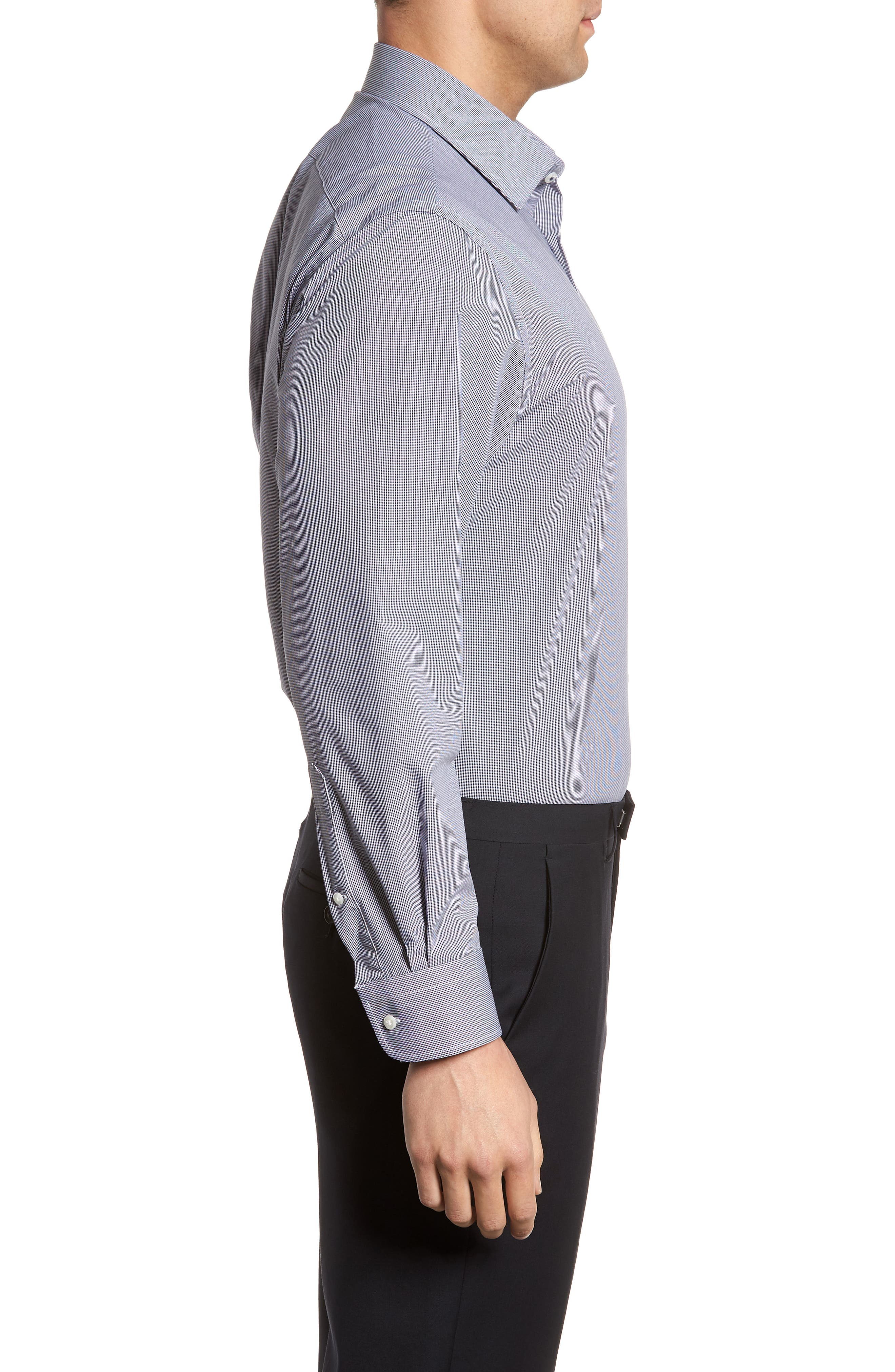 Tech-Smart Traditional Fit Stretch Microdot Dress Shirt,                             Alternate thumbnail 4, color,                             410