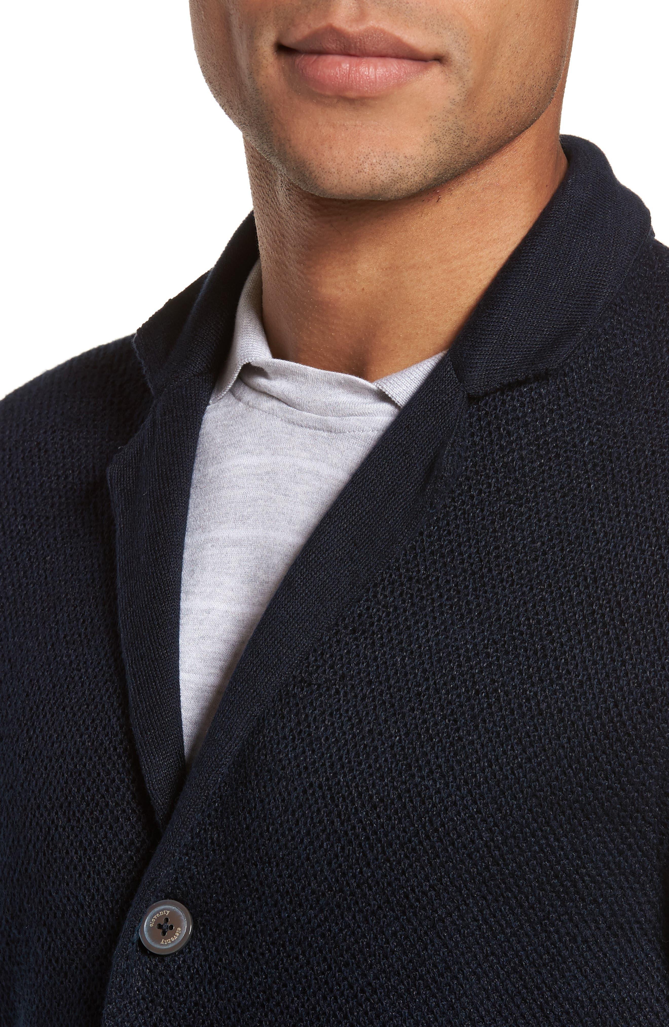 Linen & Cotton Cardigan,                             Alternate thumbnail 4, color,                             400
