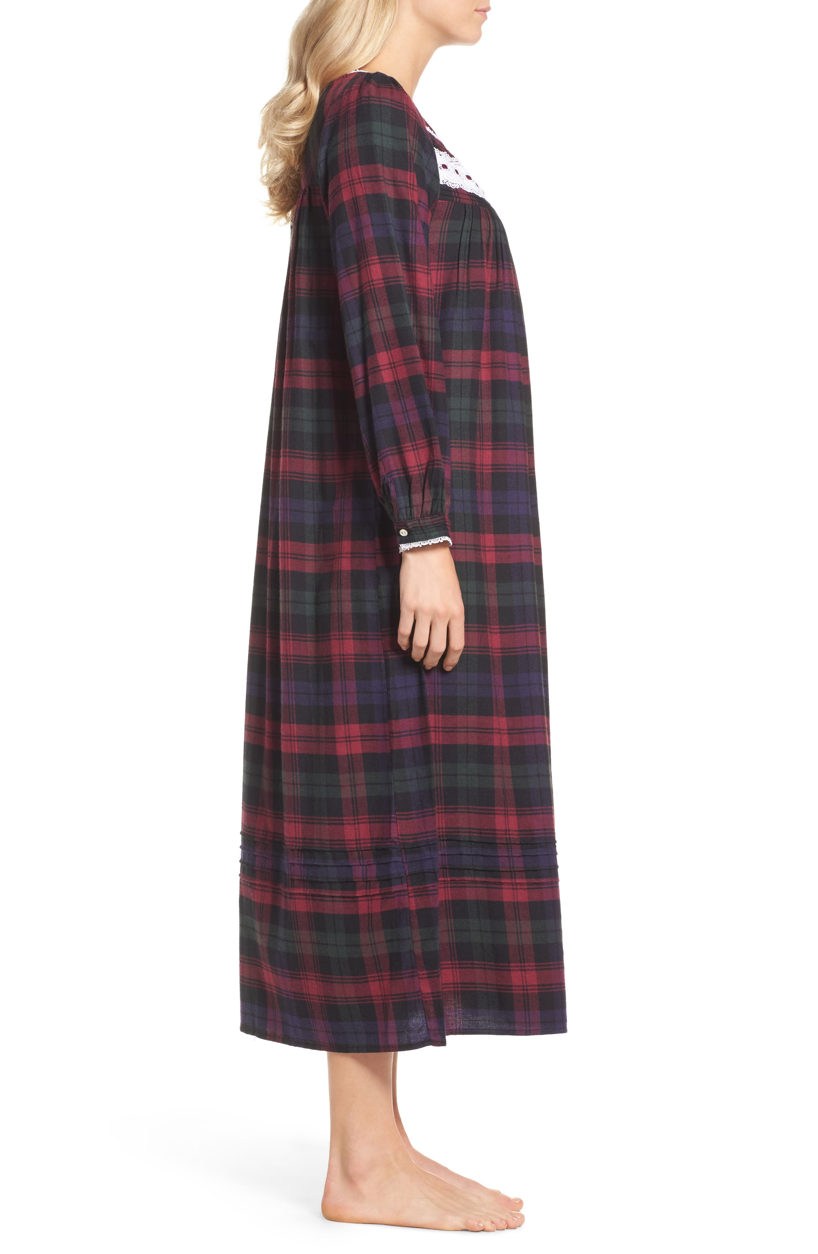 Ballet Flannel Nightgown,                             Alternate thumbnail 6, color,