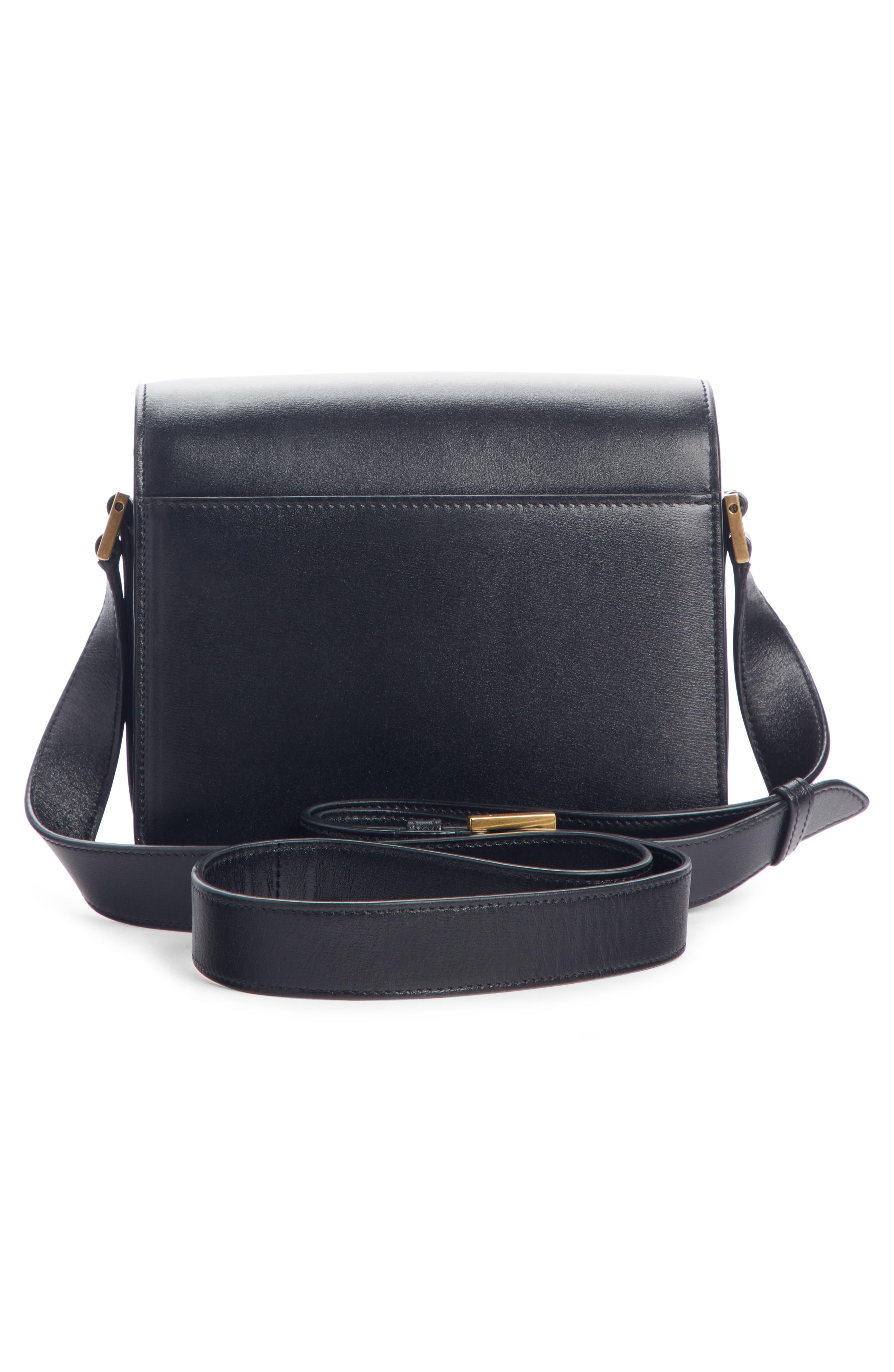 Small Le 61 Convertible Crossbody Bag,                             Alternate thumbnail 3, color,                             NOIR