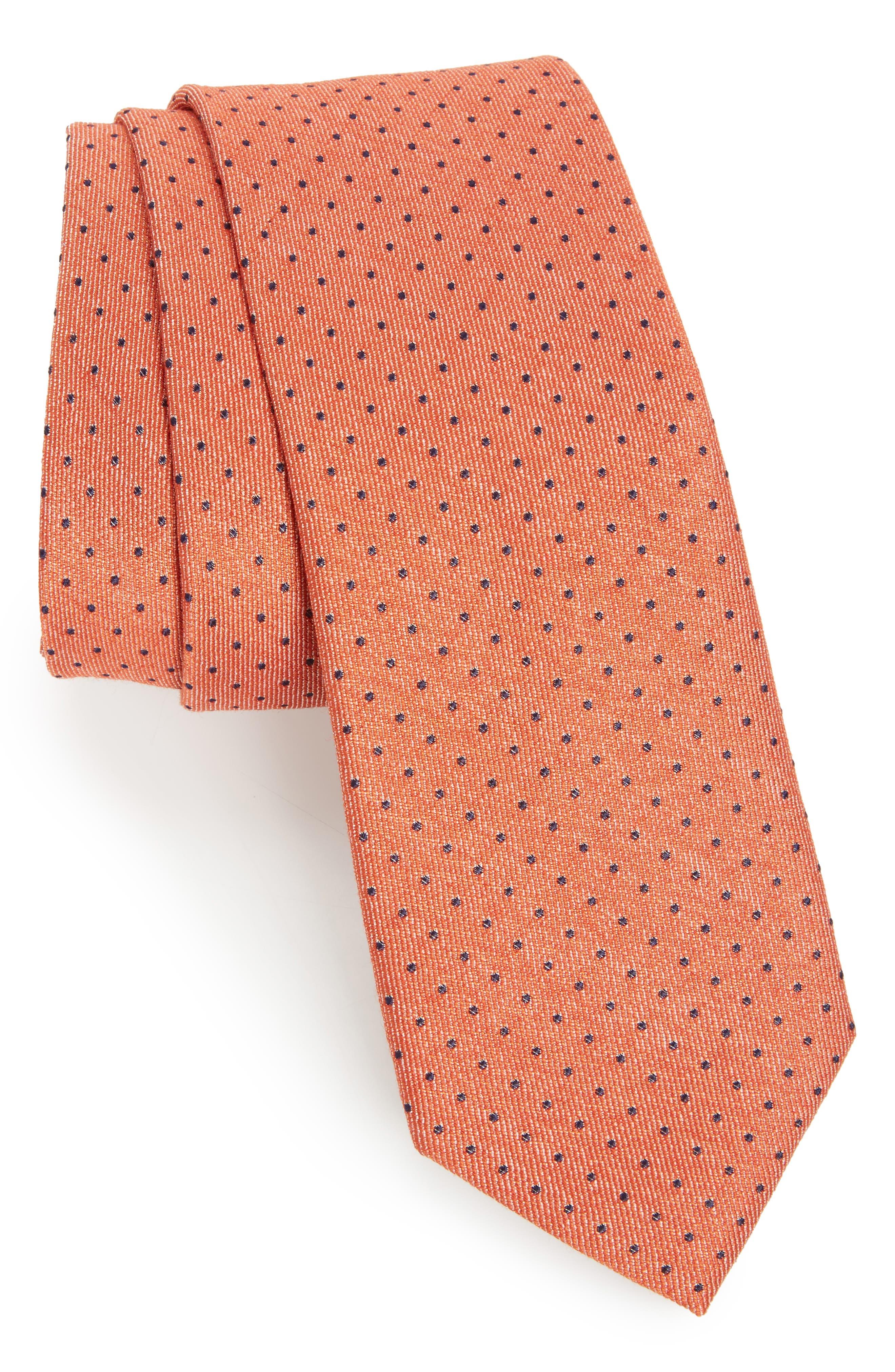 Brockton Dot Silk & Cotton Tie,                             Main thumbnail 2, color,