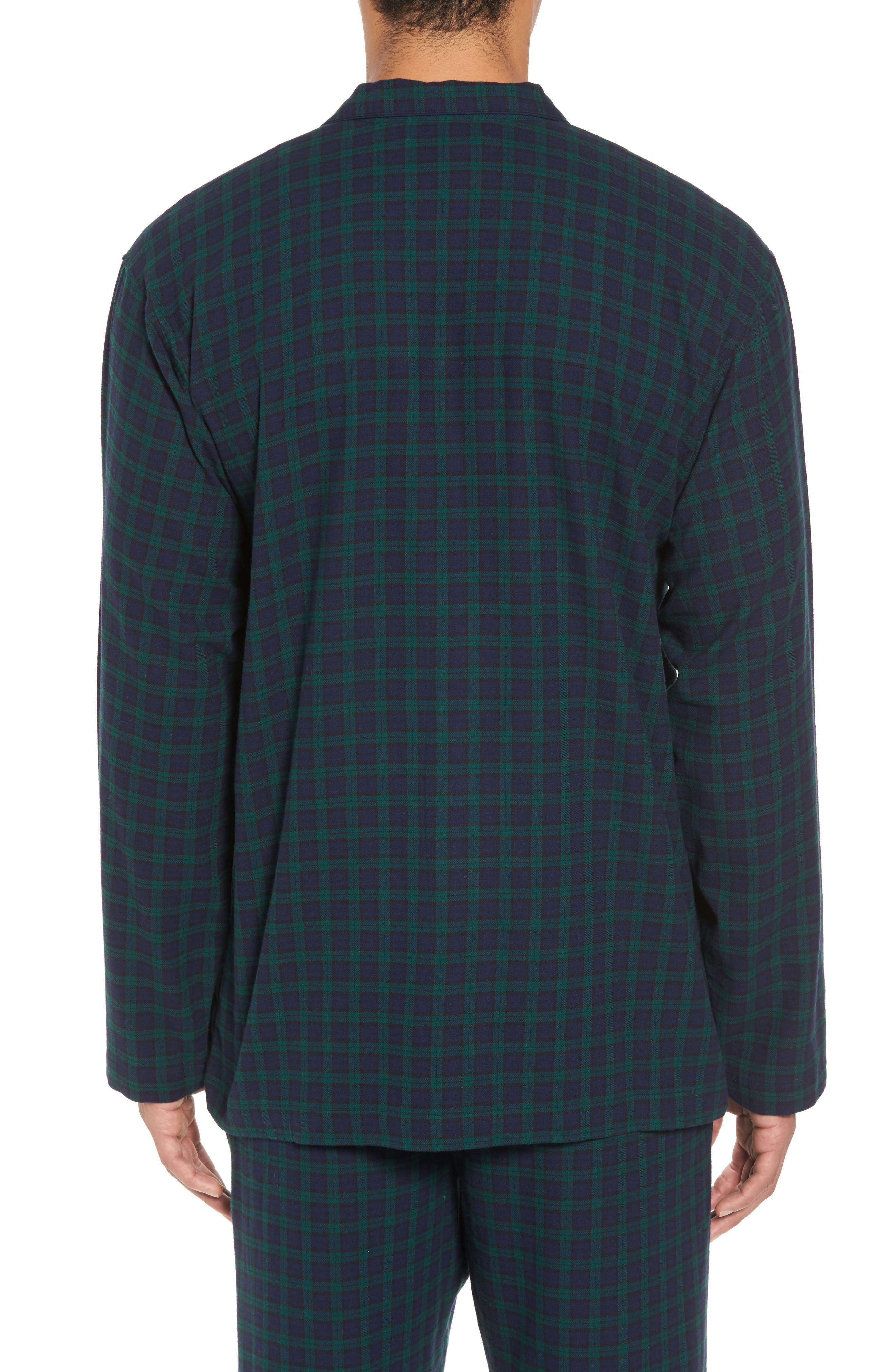 Polo Ralph Lauren Flannel Pajama Shirt,                             Alternate thumbnail 7, color,