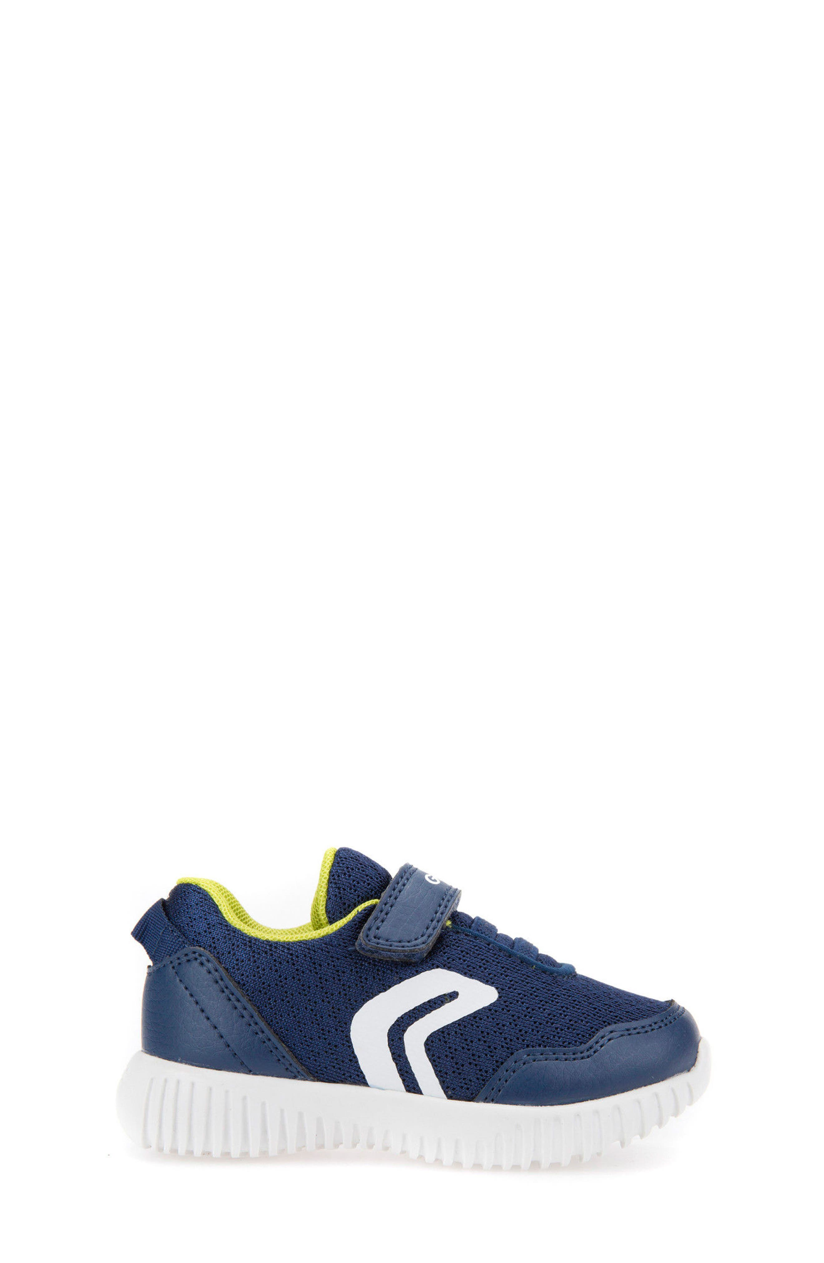 Waviness Sneaker,                             Alternate thumbnail 3, color,                             NAVY/ LIME