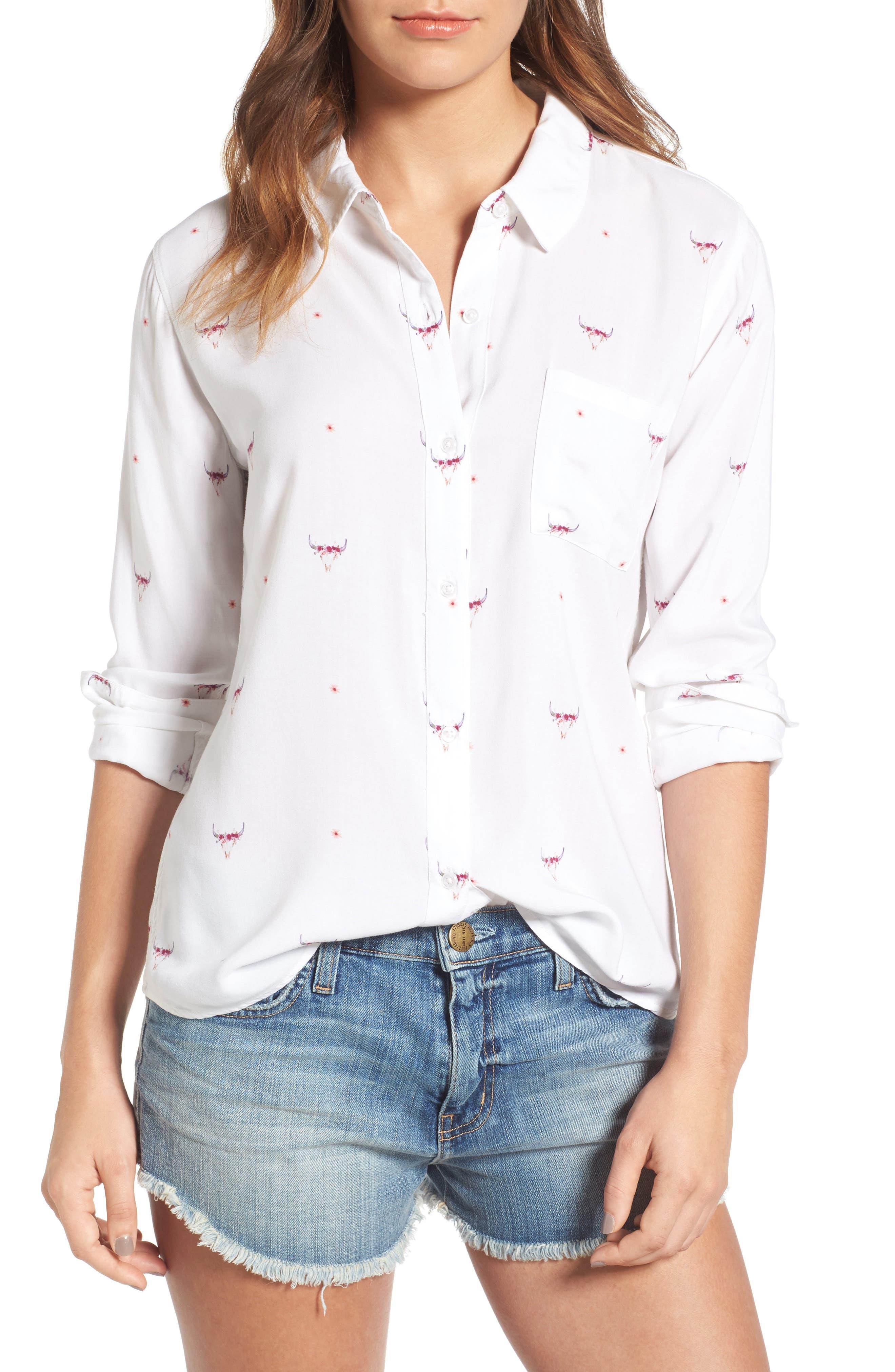 Rocsi Print Shirt,                         Main,                         color, 131