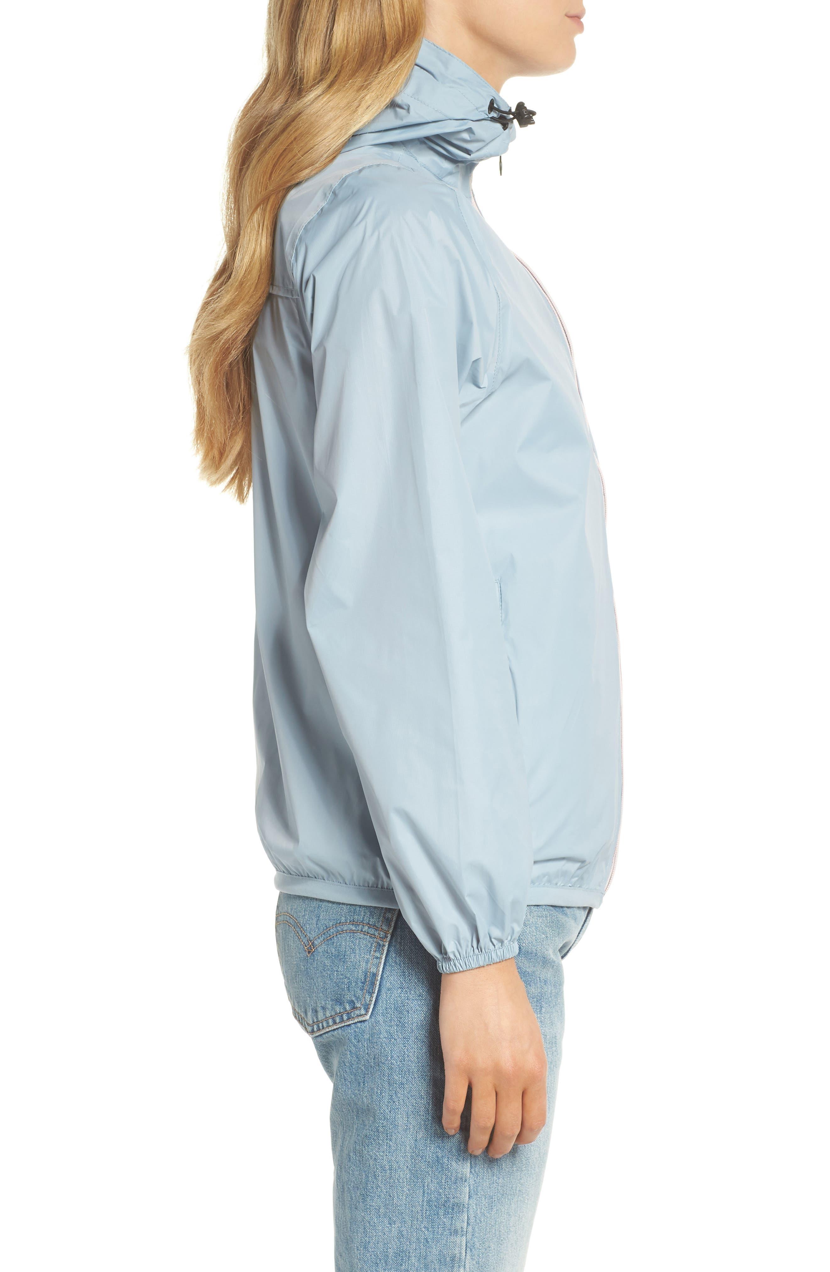 Packable Rain Jacket,                             Alternate thumbnail 3, color,                             CELESTIAL BLUE