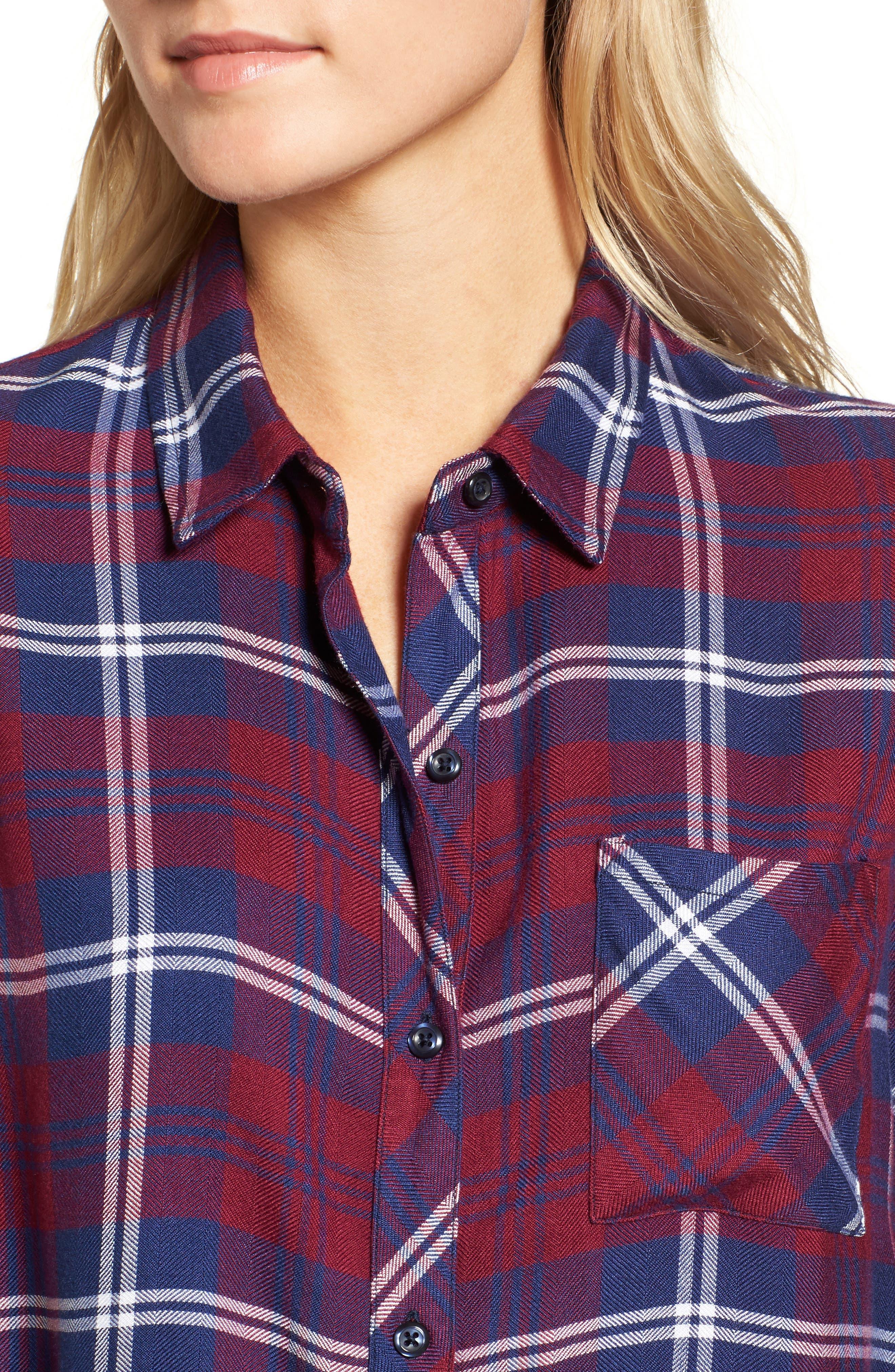 Hunter Plaid Shirt,                             Alternate thumbnail 454, color,