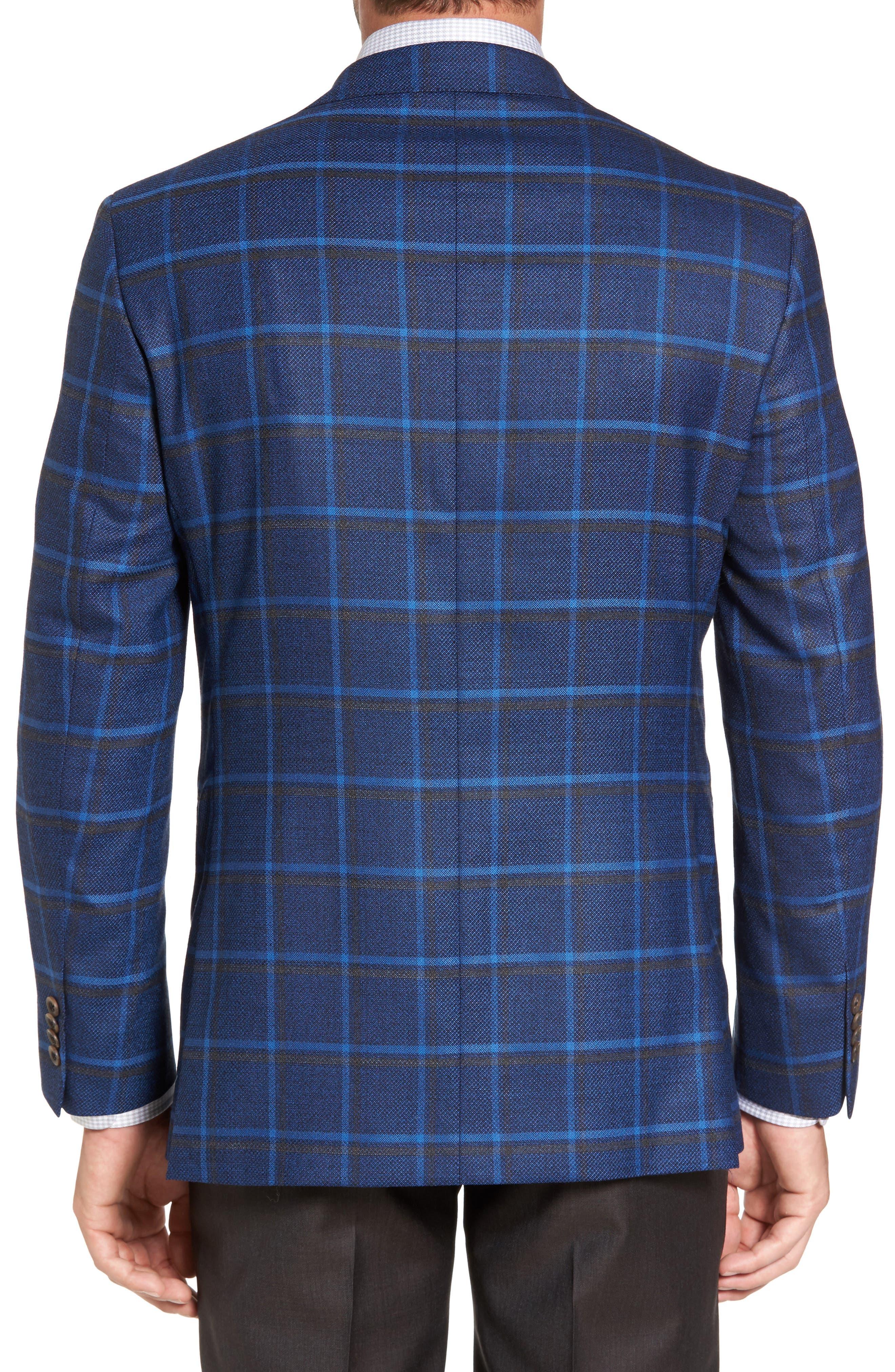 Connor Classic Fit Plaid Sport Coat,                             Alternate thumbnail 2, color,                             400