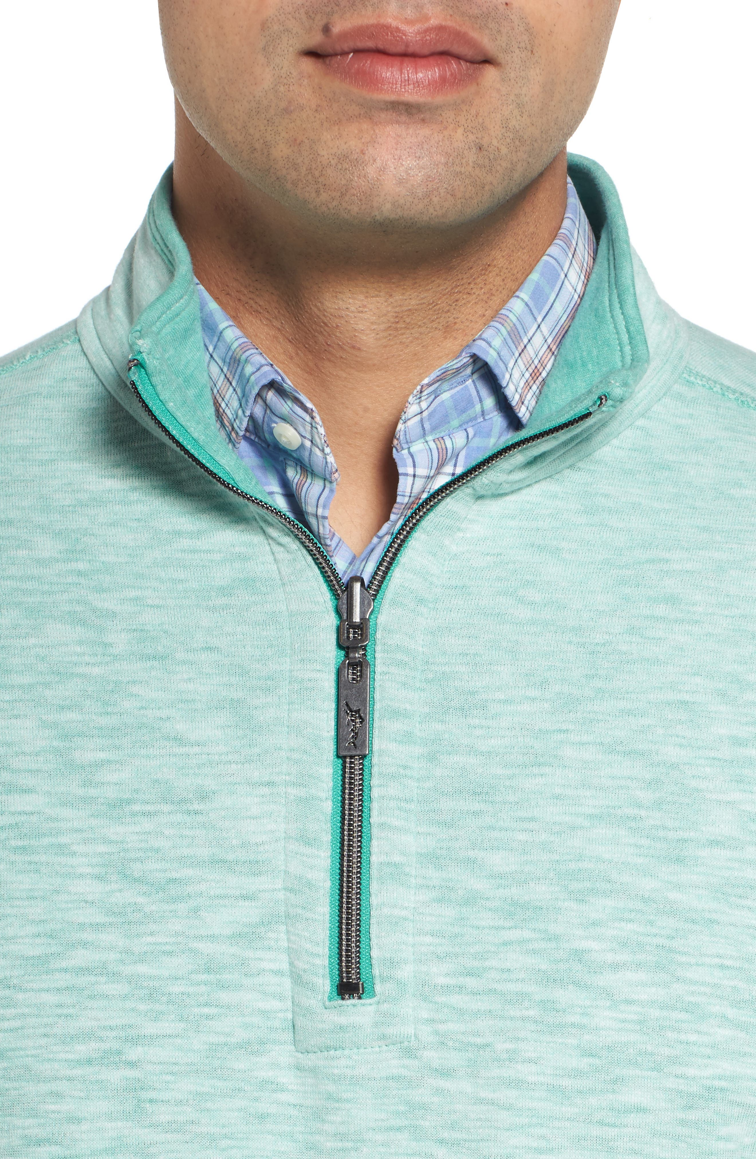 Sea Glass Reversible Quarter Zip Pullover,                             Alternate thumbnail 47, color,