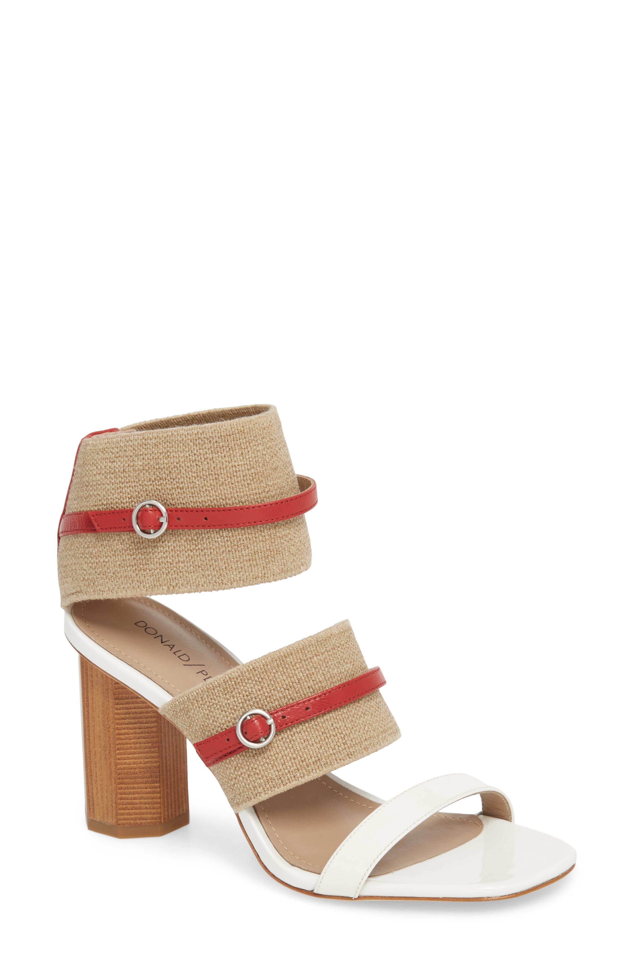 Edie Sandal,                         Main,                         color, NATURAL FABRIC
