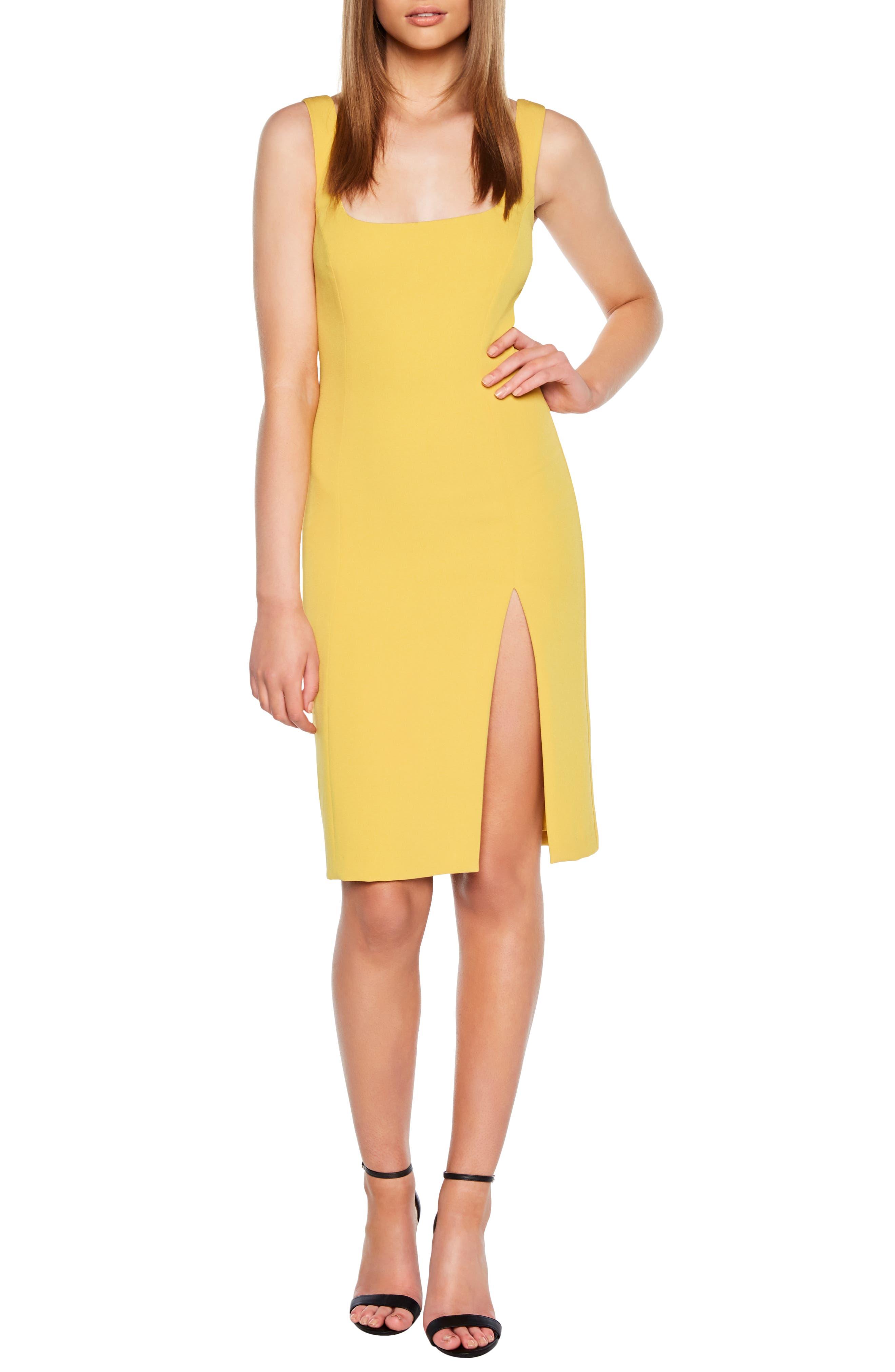 Bardot Leila Sheath Dress, Yellow