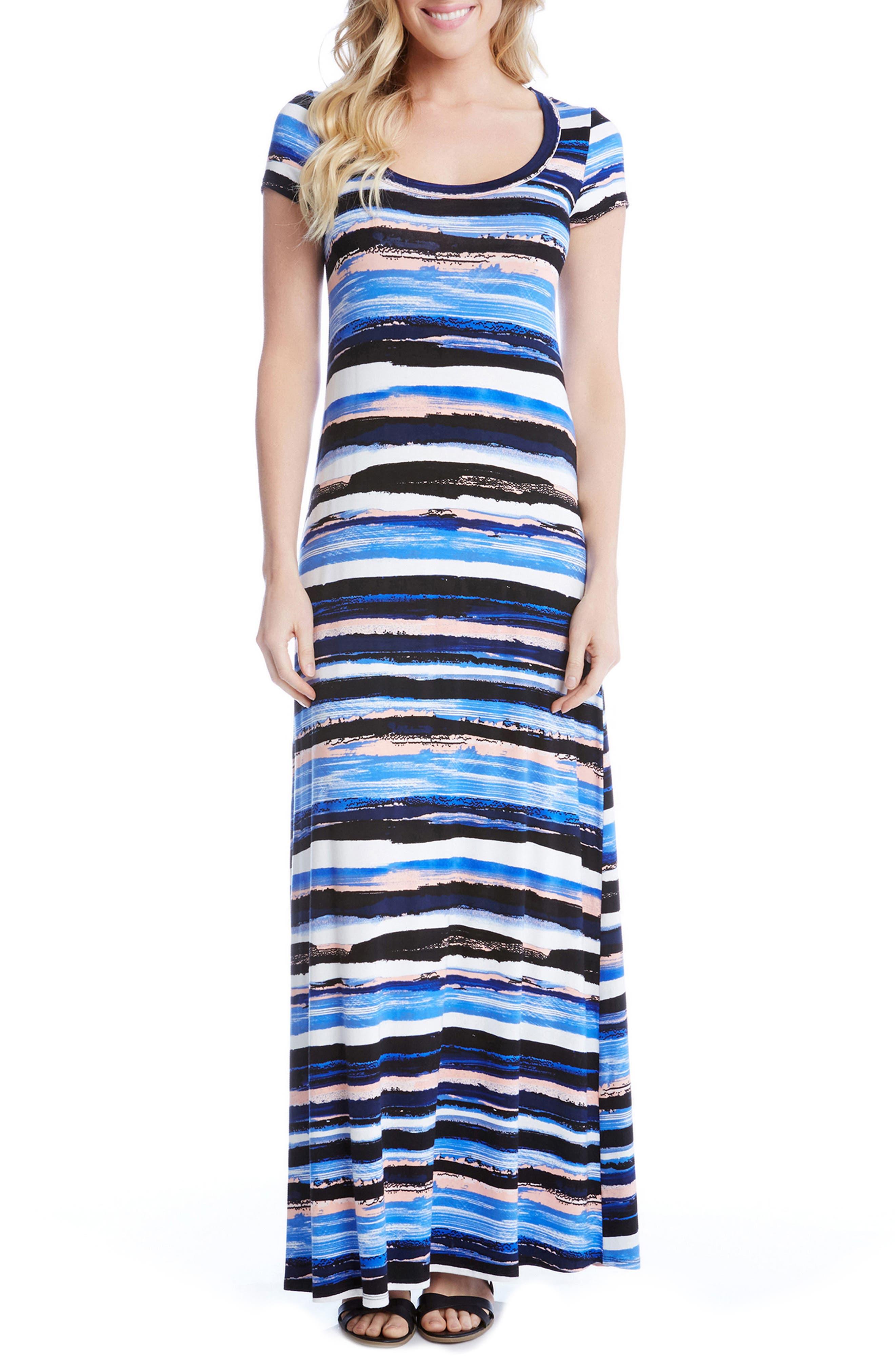 Painted Stripe Maxi Dress,                         Main,                         color, 460