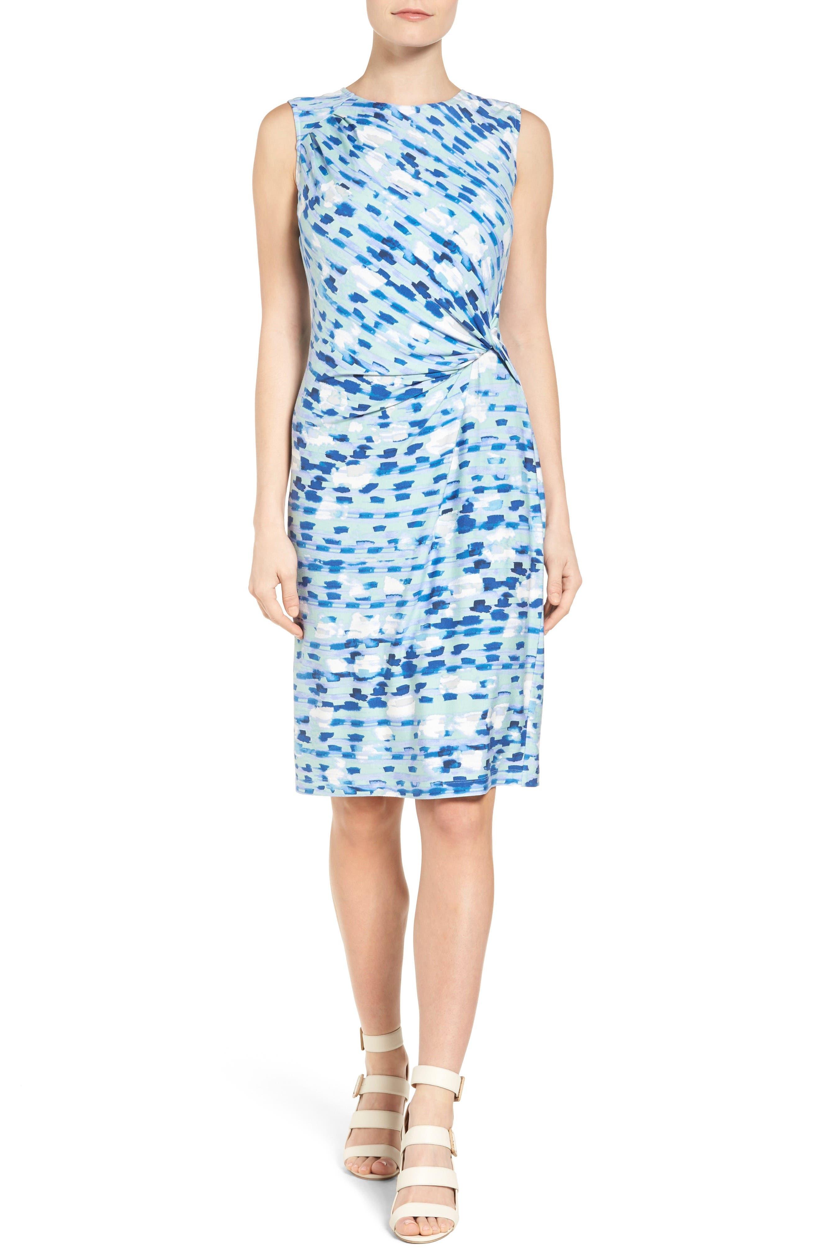 Water Lane Bias Twist Sheath Dress,                             Main thumbnail 1, color,                             490