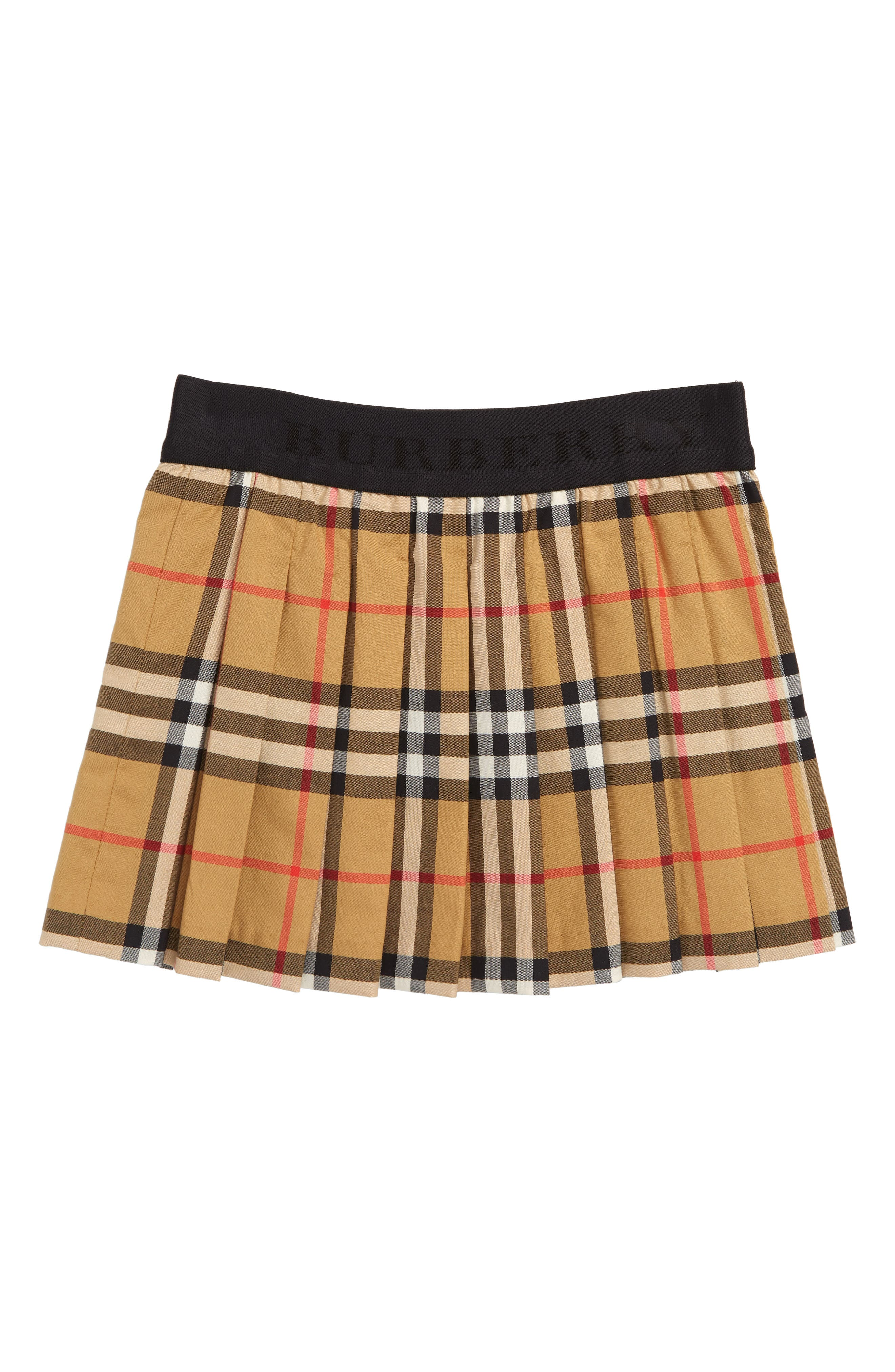 Mini Pansie Check Skirt,                         Main,                         color, ANTIQUE YELLOW
