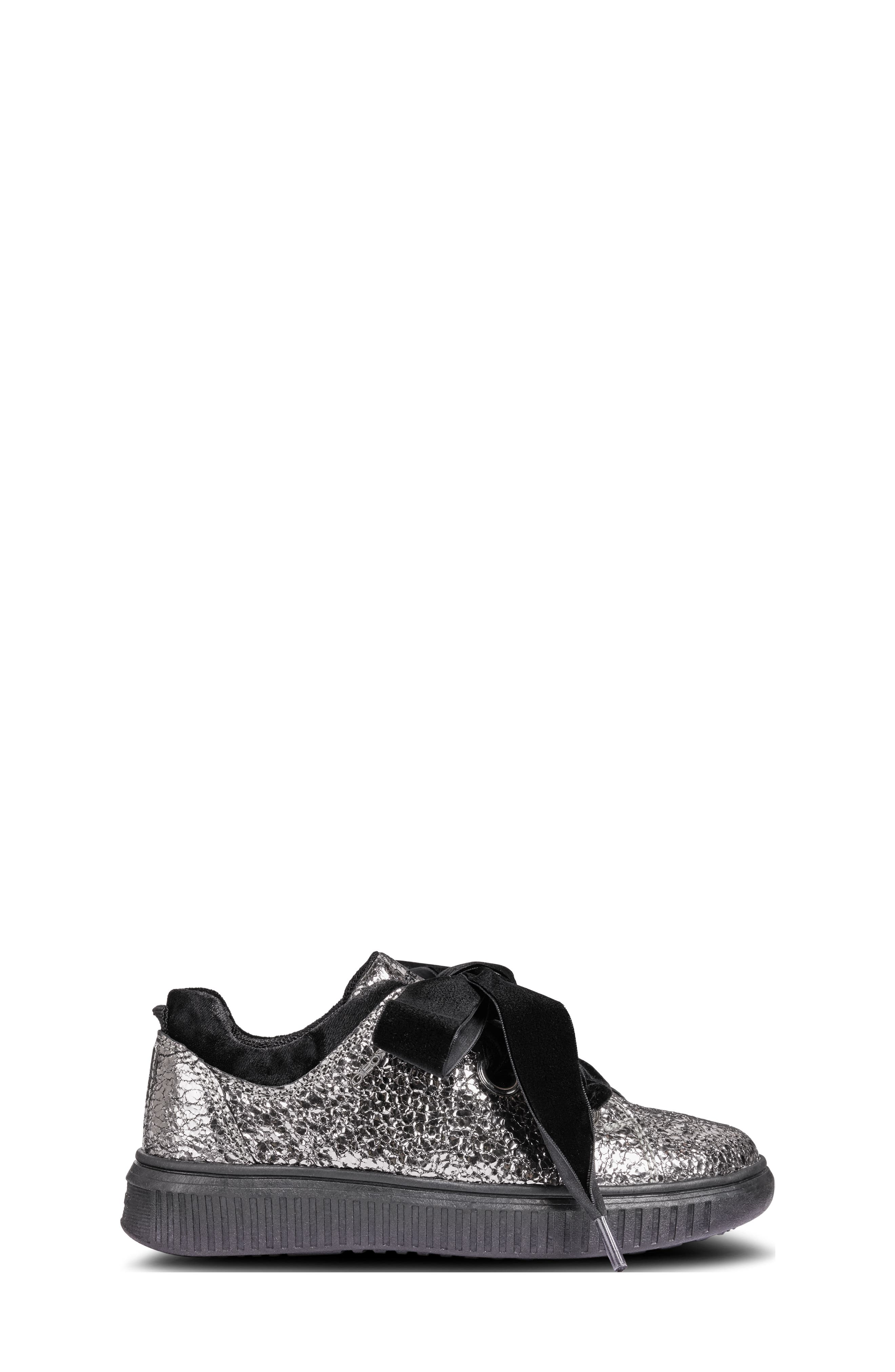 Disco Mix Sneaker,                             Alternate thumbnail 3, color,                             DARK SILVER