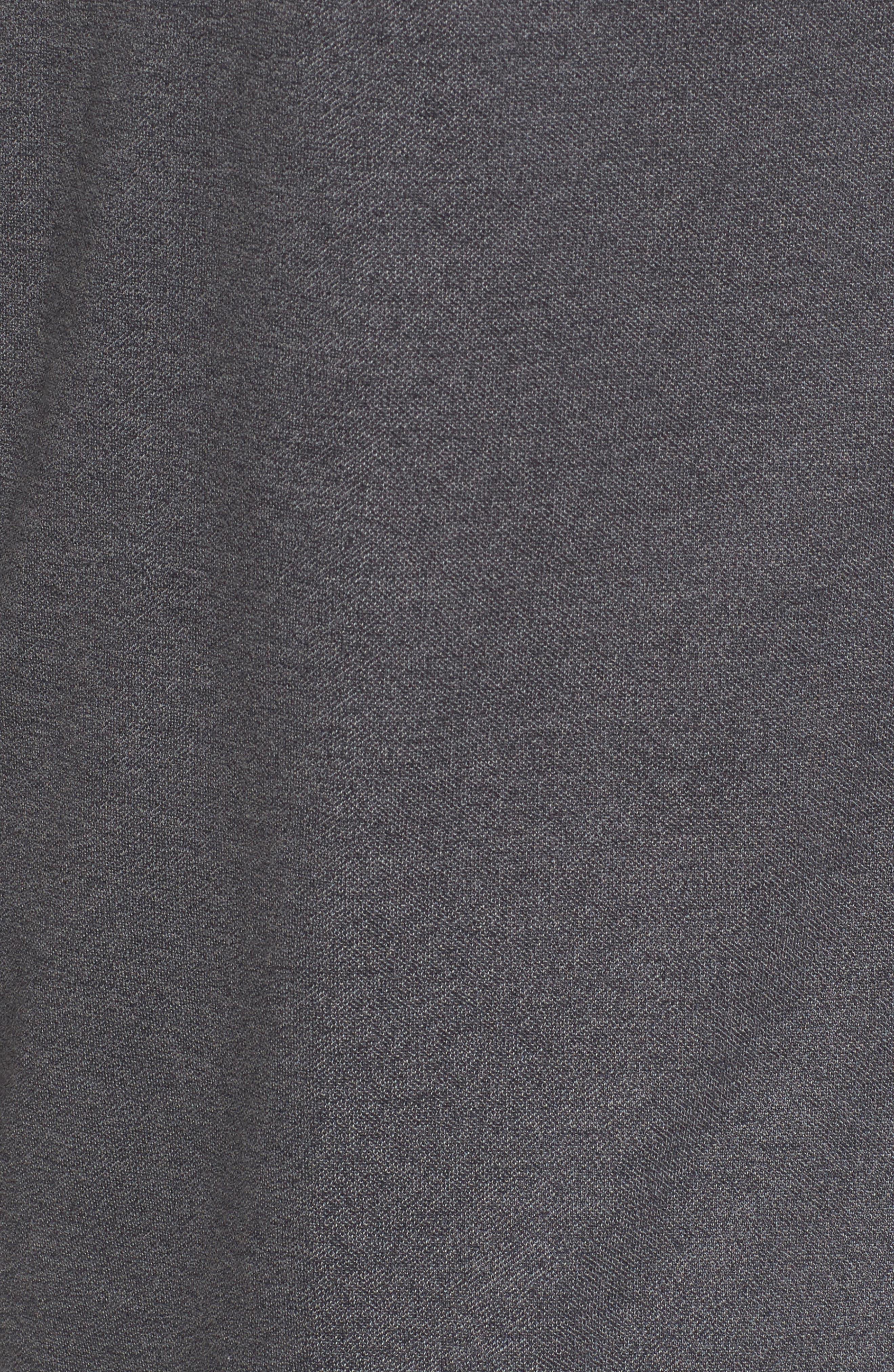 Long Sleeve Polo,                             Alternate thumbnail 5, color,                             BLACK CAVIAR MELANGE