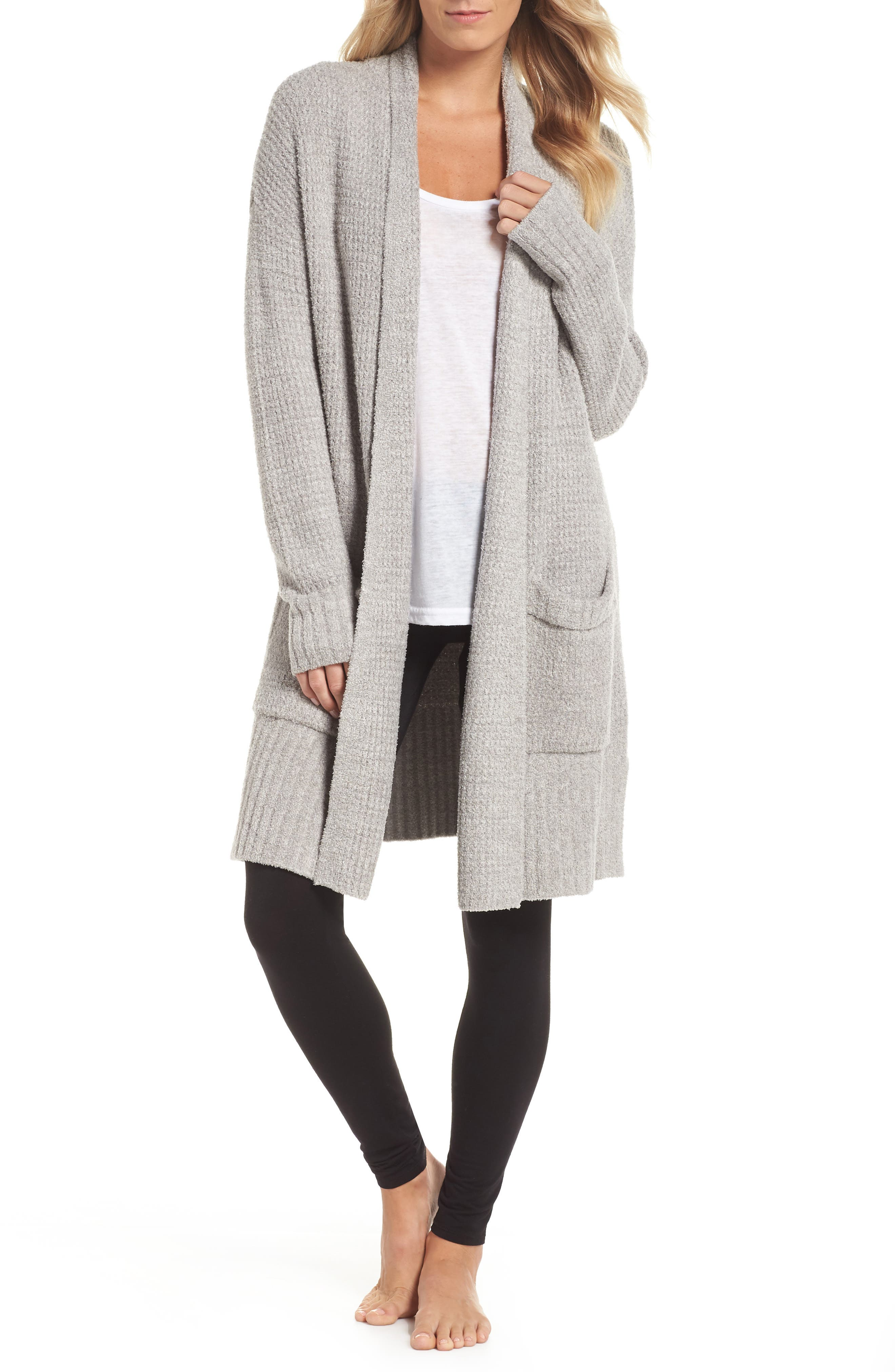 CozyChic<sup>®</sup> Lite Long Weekend Cardigan,                             Main thumbnail 1, color,                             PEWTER/ SILVER