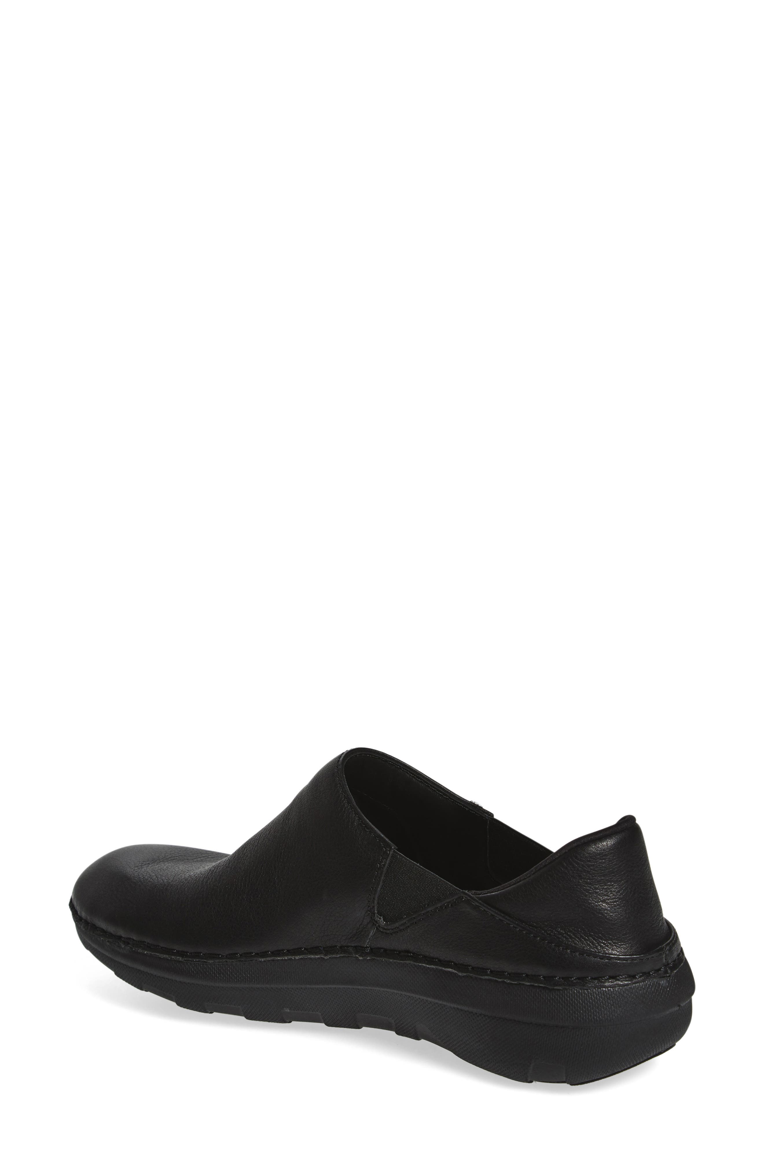 Superloafer Flat,                             Alternate thumbnail 2, color,                             ALL BLACK LEATHER