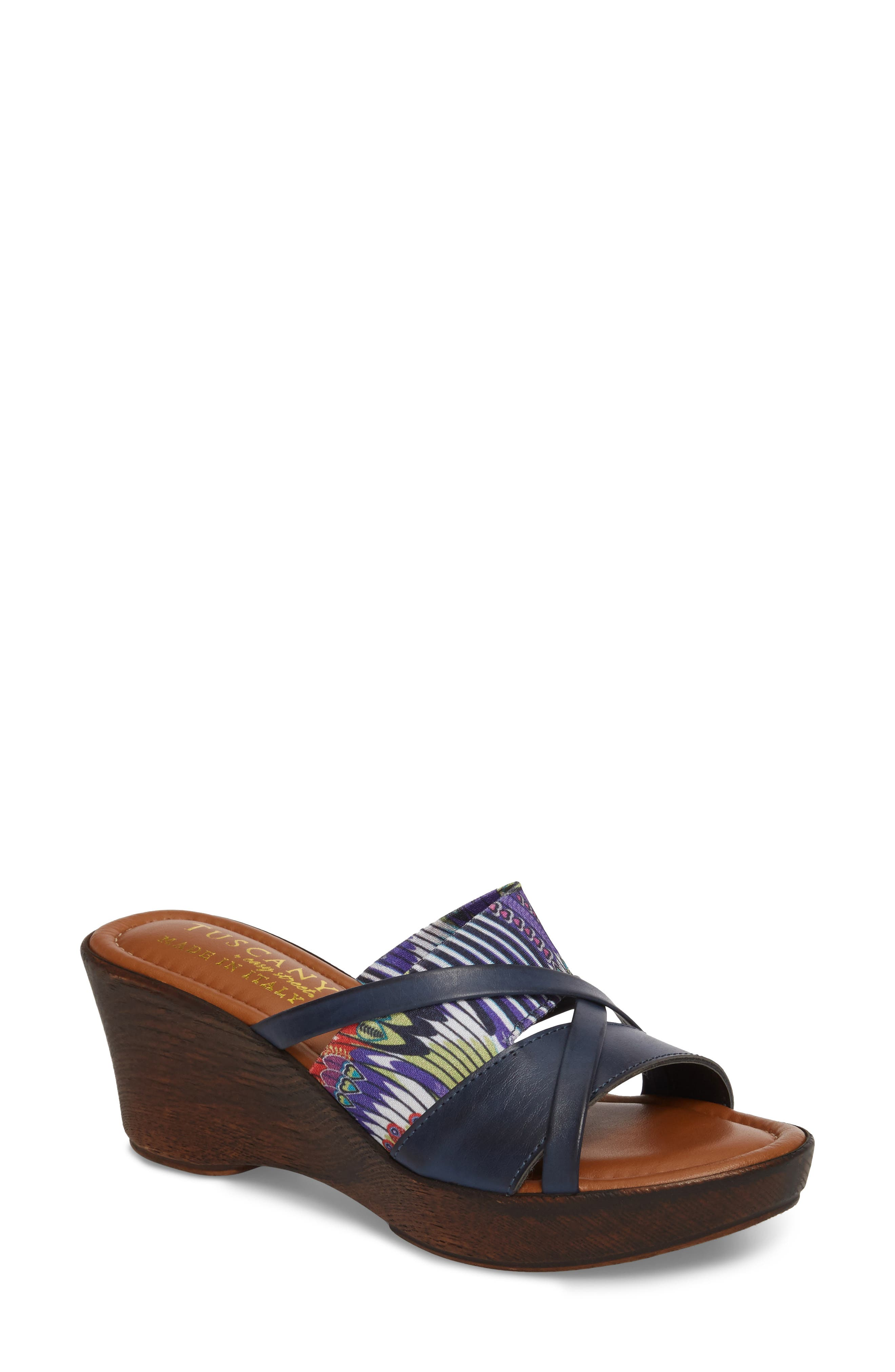 by East Street<sup>®</sup> Lucette Strappy Wedge Mule,                             Main thumbnail 4, color,