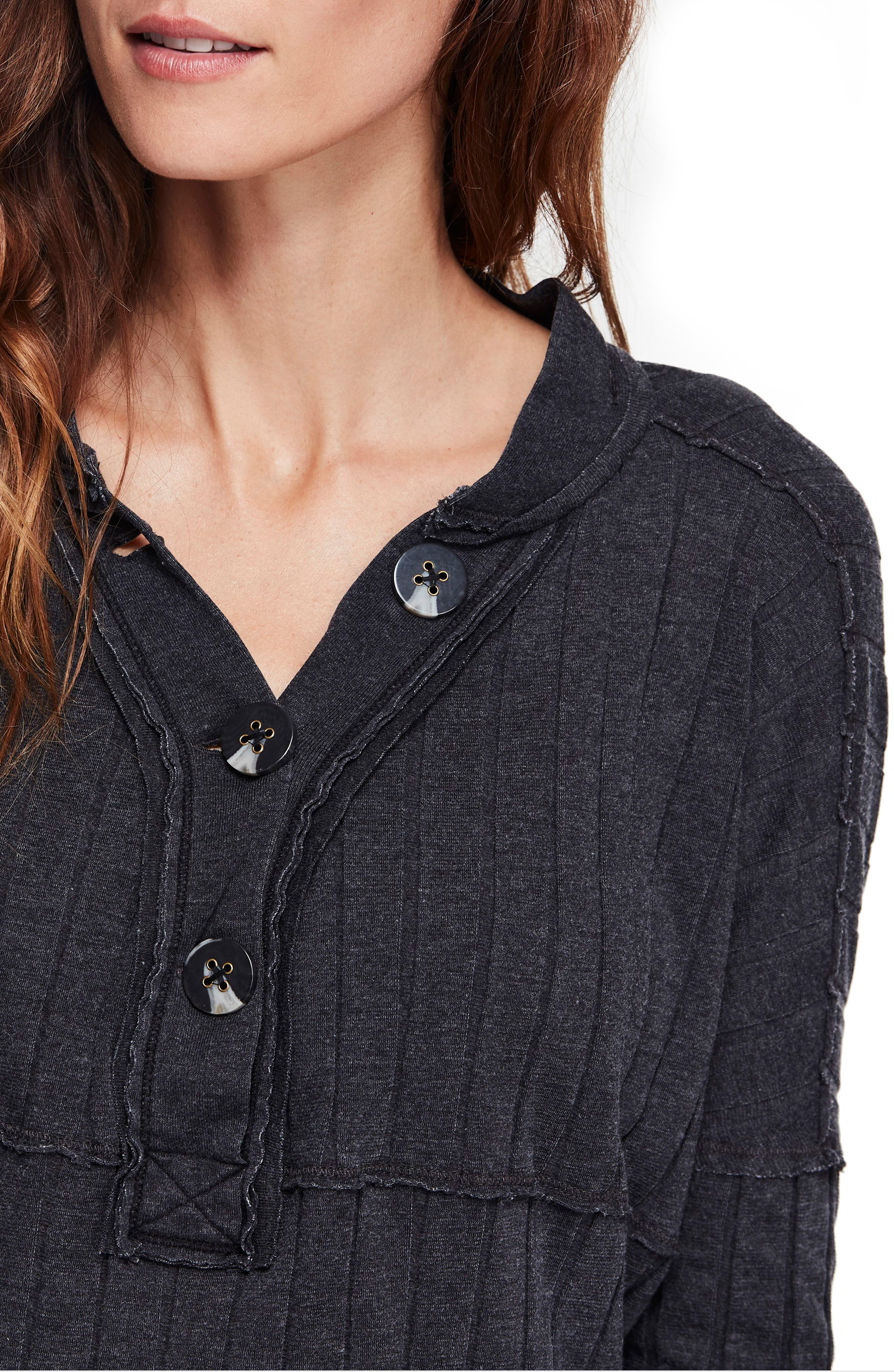 In The Mix Knit Top,                             Alternate thumbnail 4, color,                             BLACK