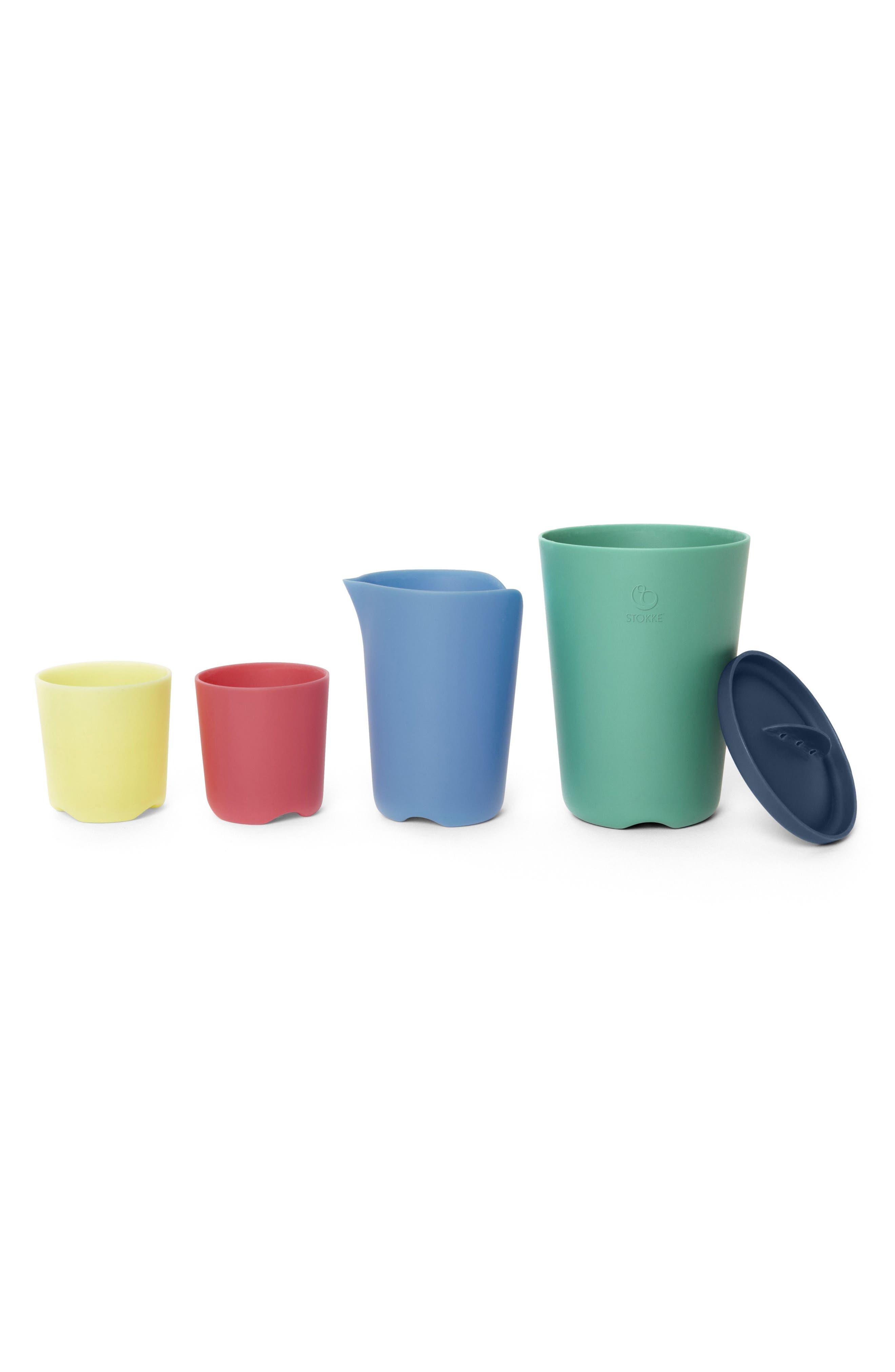 Flexi Bath<sup>®</sup> 5-Piece Toy Cups Set,                             Main thumbnail 1, color,                             MULTI