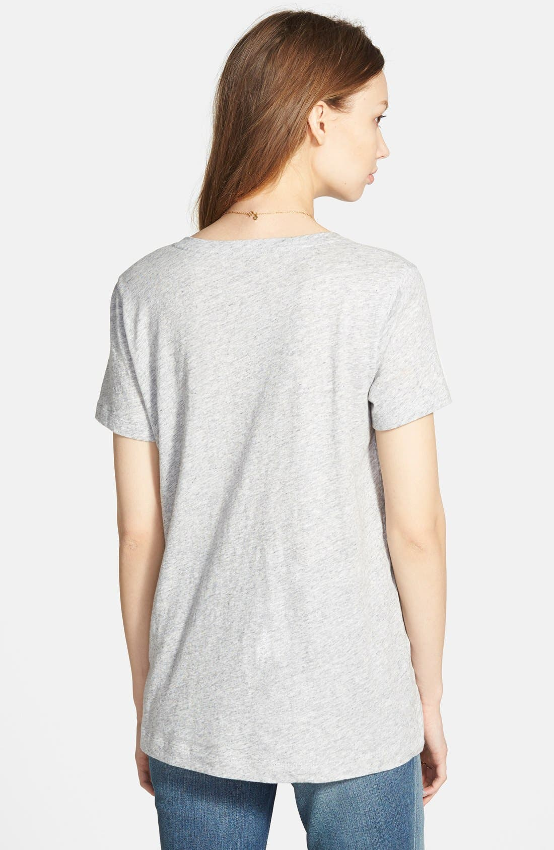 Whisper Cotton V-Neck Pocket Tee,                             Alternate thumbnail 92, color,
