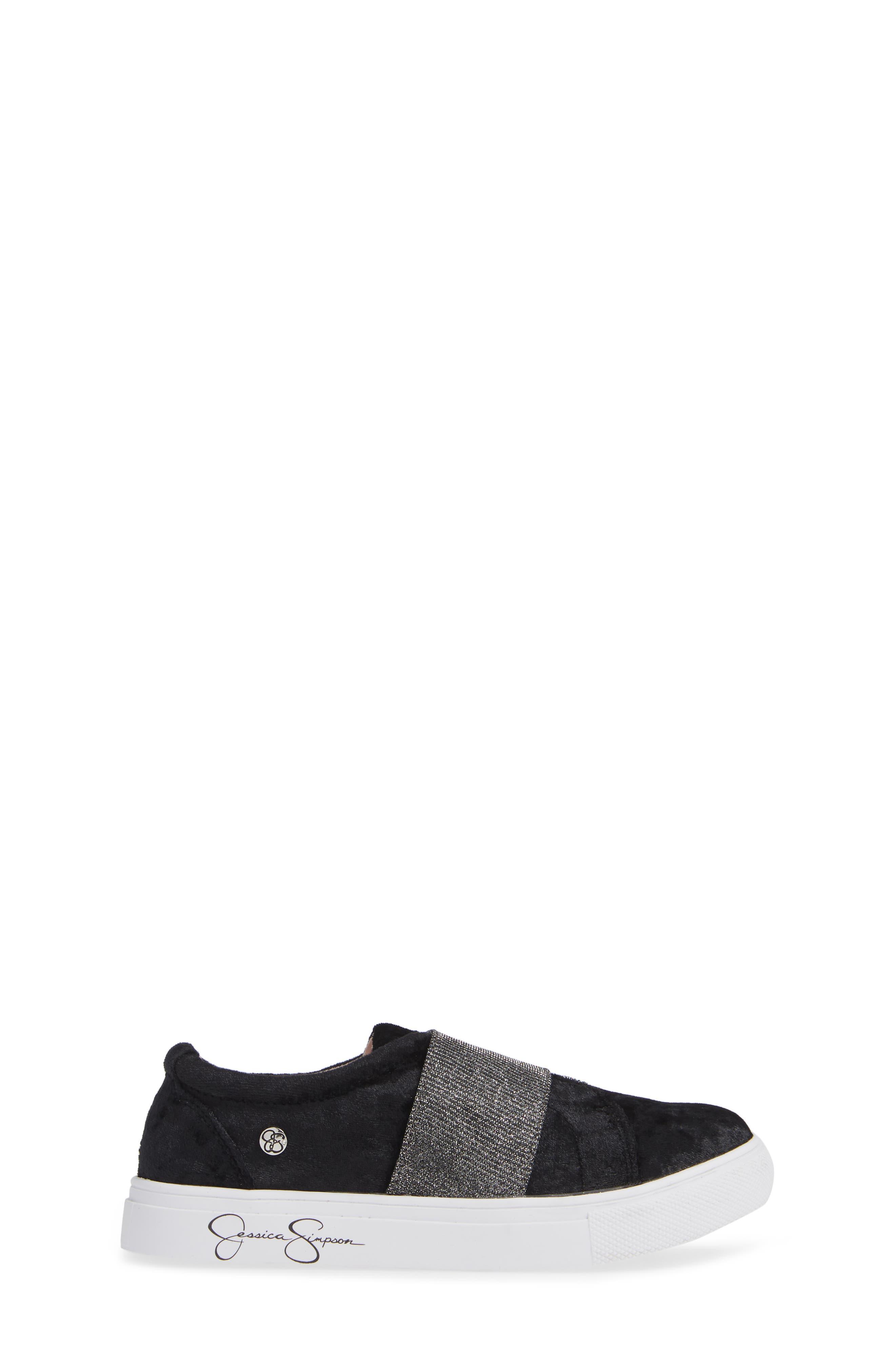 Sparkle Slip-On Sneaker,                             Alternate thumbnail 3, color,                             BLACK CRUSHED VELVET