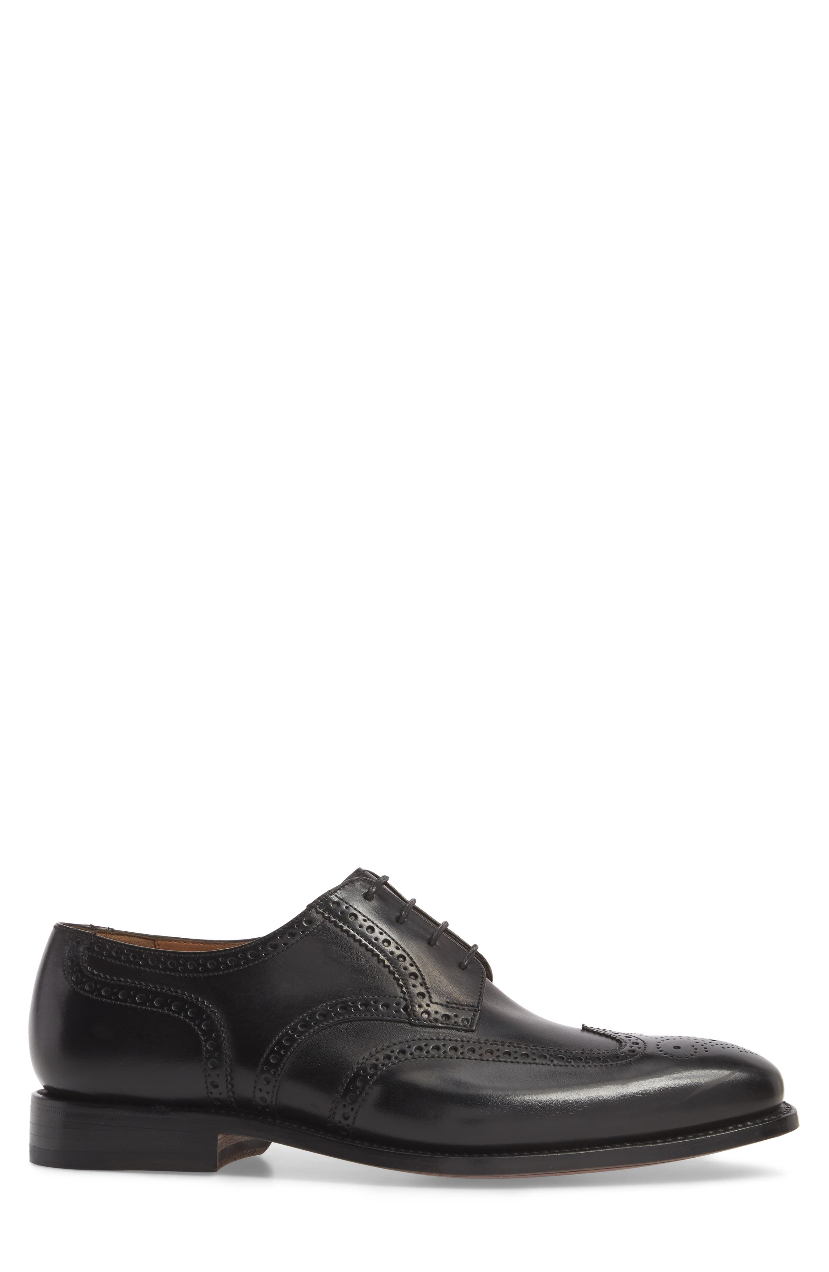 Cavallo Wingtip,                             Alternate thumbnail 3, color,                             BLACK LEATHER