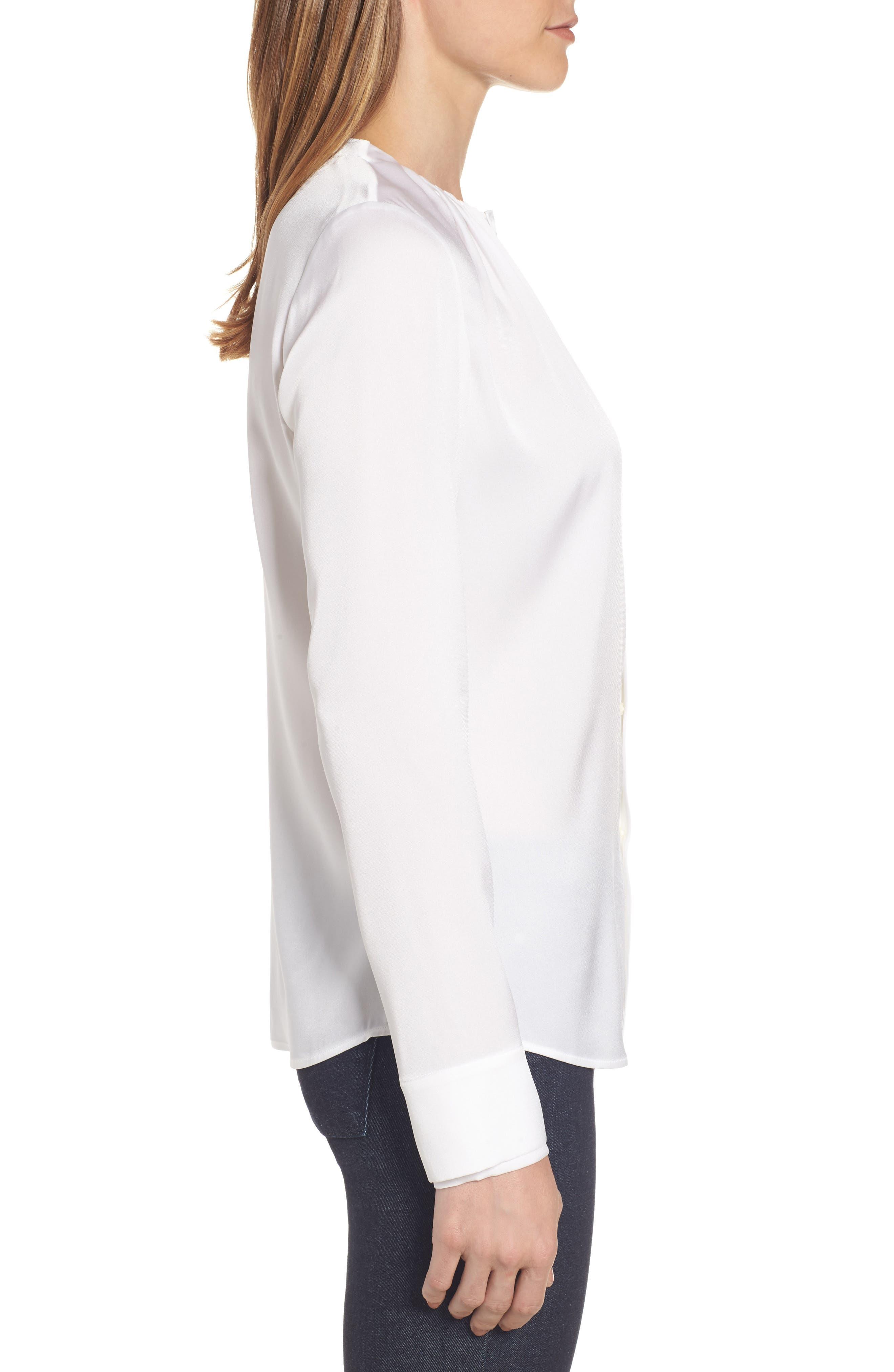 Banyra Stretch Silk Blouse,                             Alternate thumbnail 3, color,                             112