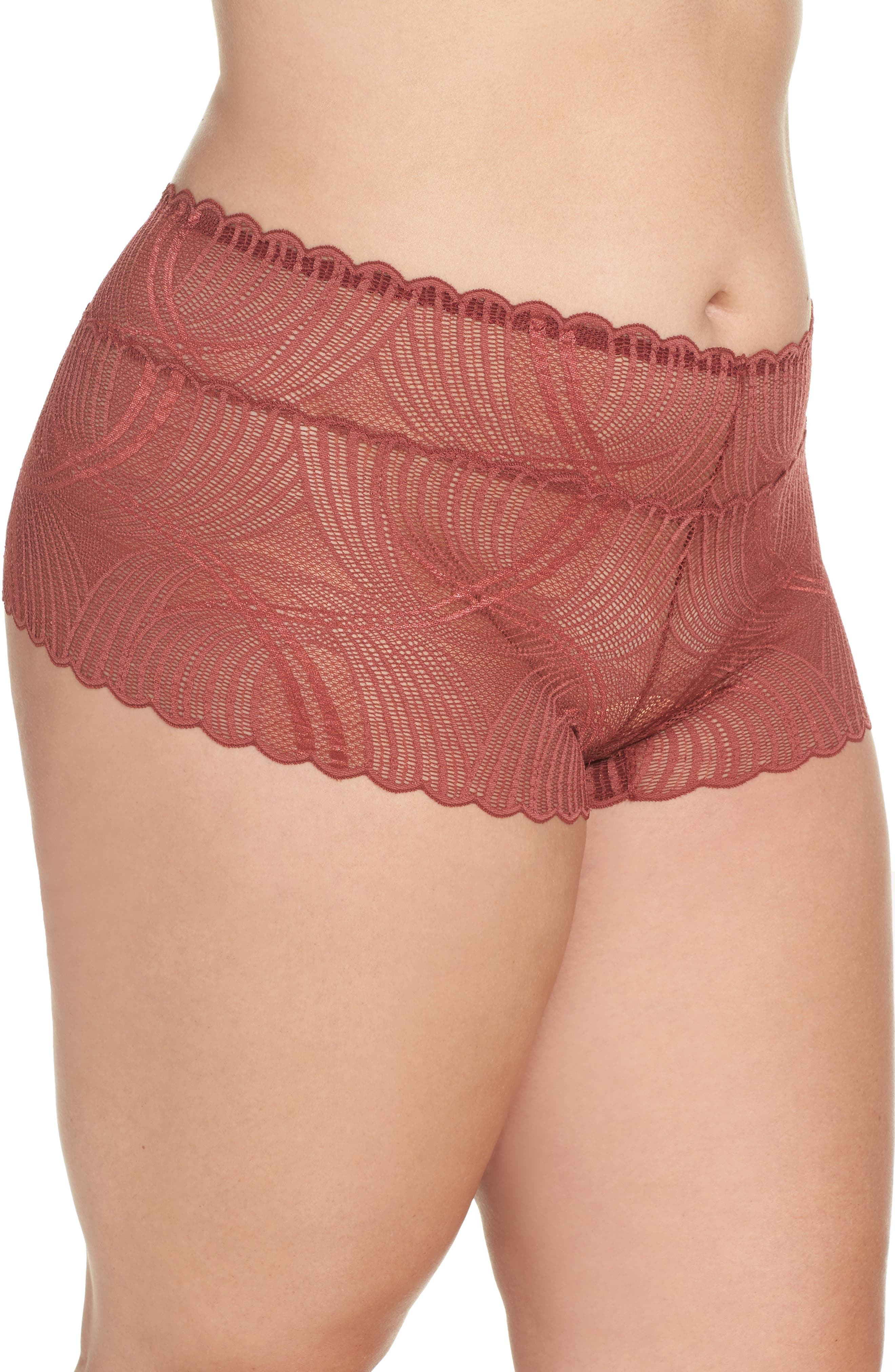Minoa Naughtie Open Gusset Boyshorts,                             Alternate thumbnail 12, color,