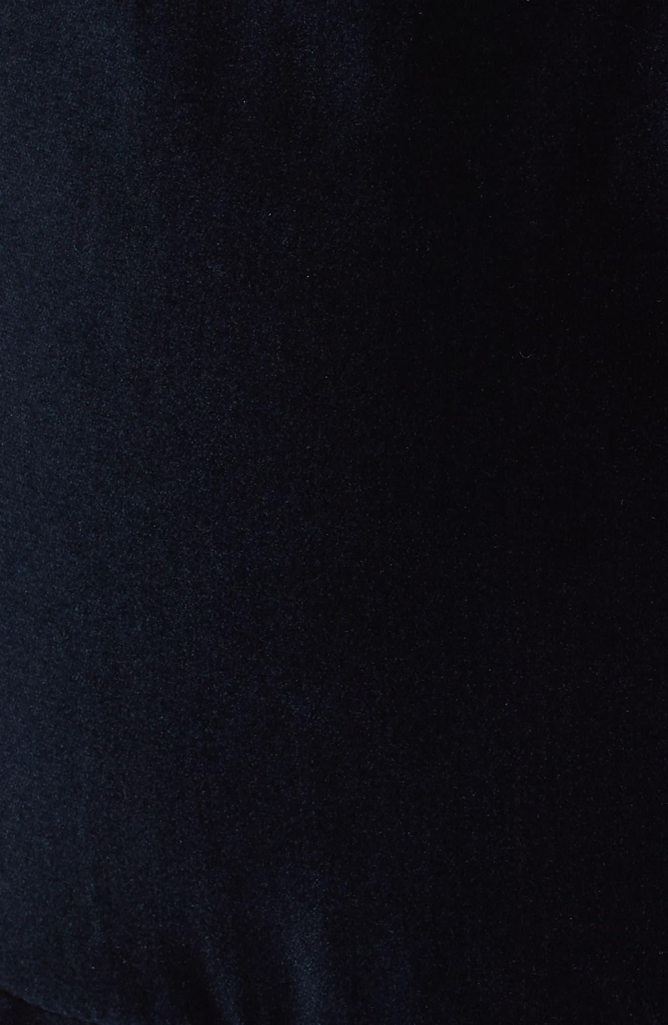 Enid Ruffled Velvet Minidress,                             Alternate thumbnail 5, color,                             410