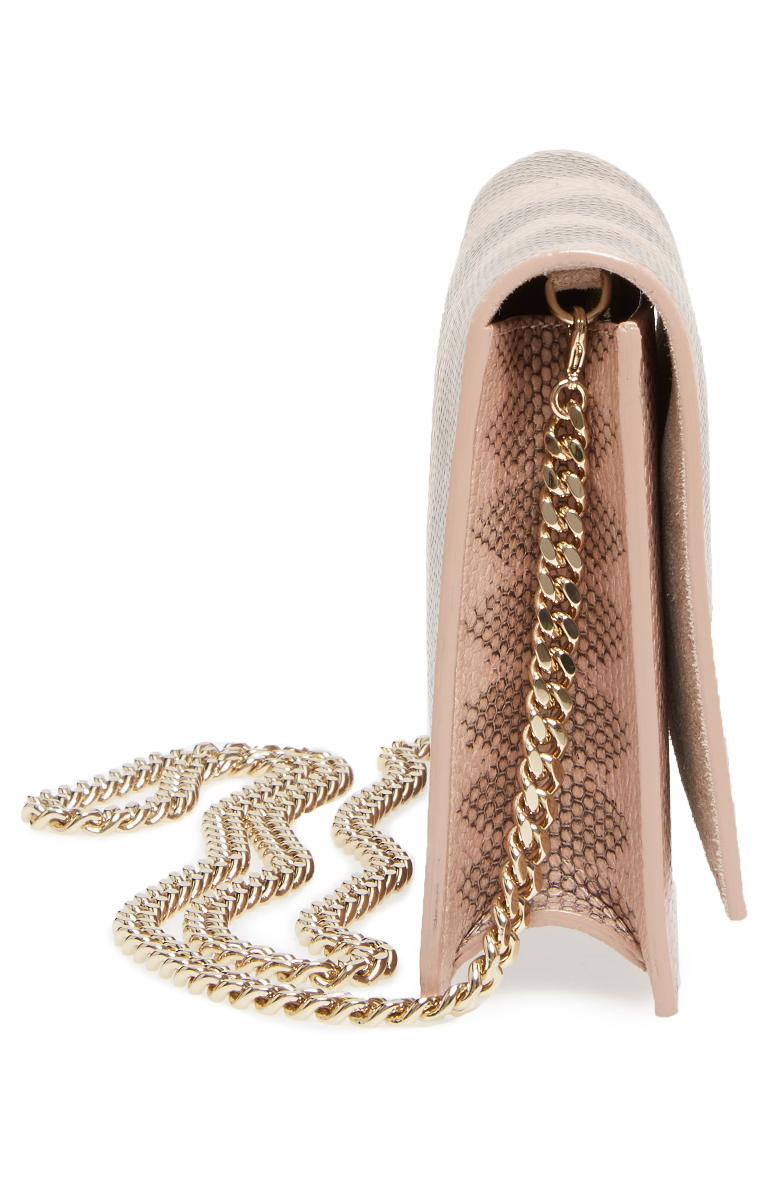 Florence Genuine Snakeskin Crossbody Bag,                             Alternate thumbnail 5, color,                             650