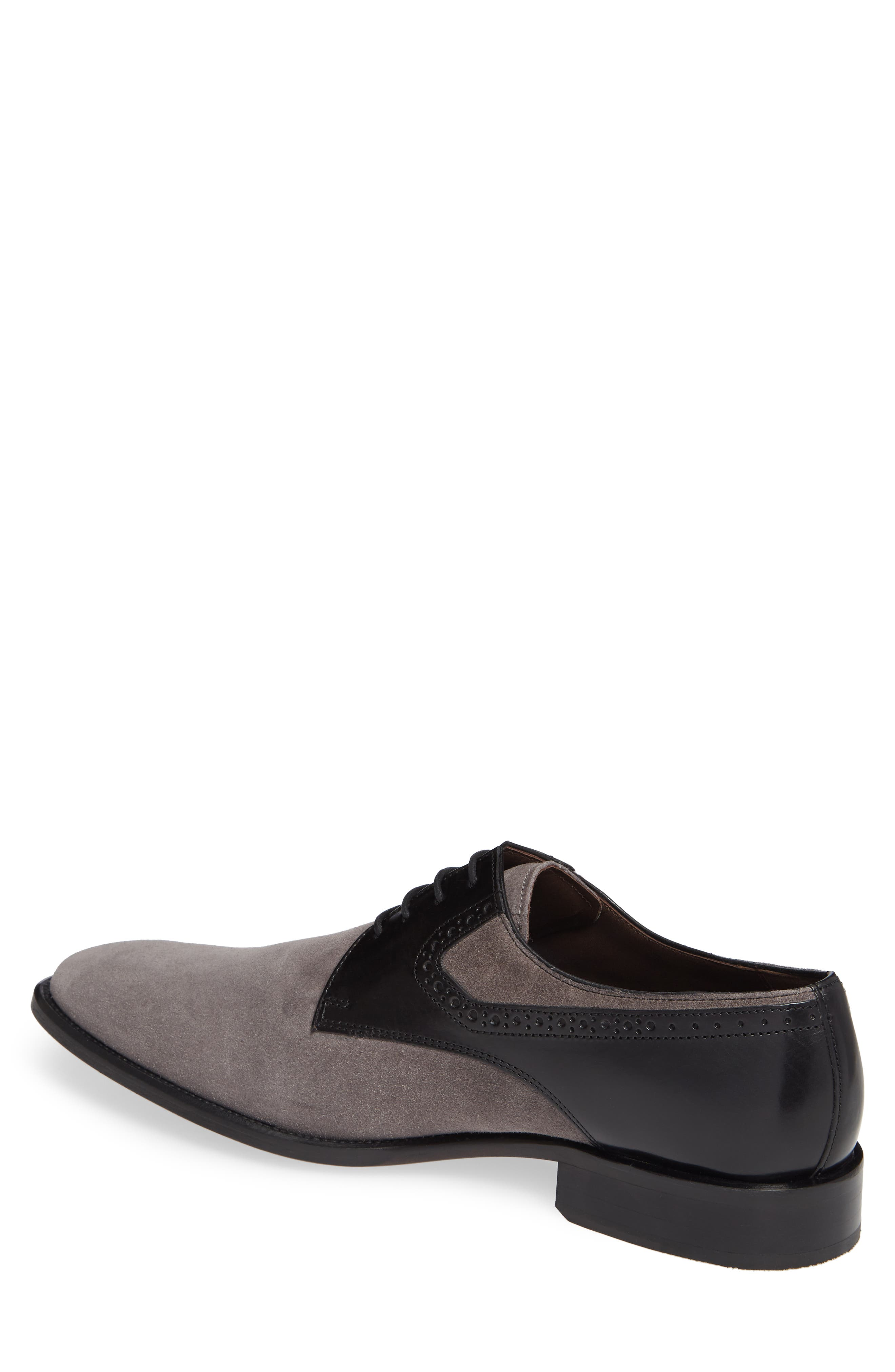 Maxwell Plain Toe Derby,                             Alternate thumbnail 2, color,                             GREY SUEDE