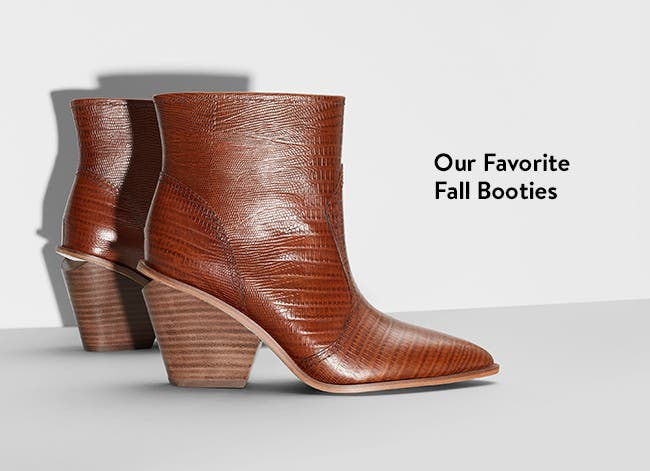 Fall booties for women.