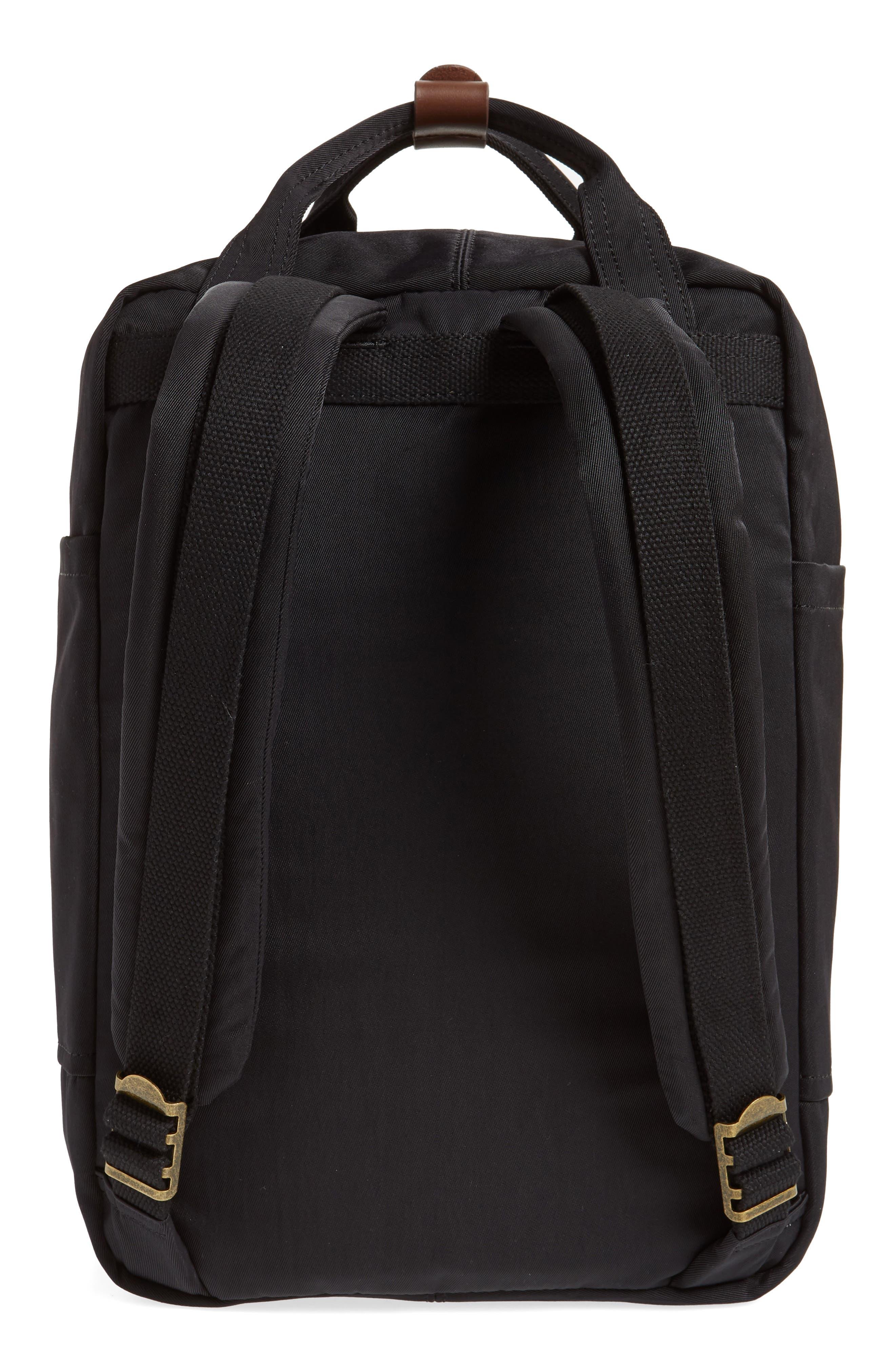 Macaroon Water Resistant Backpack,                             Alternate thumbnail 3, color,                             BLACK