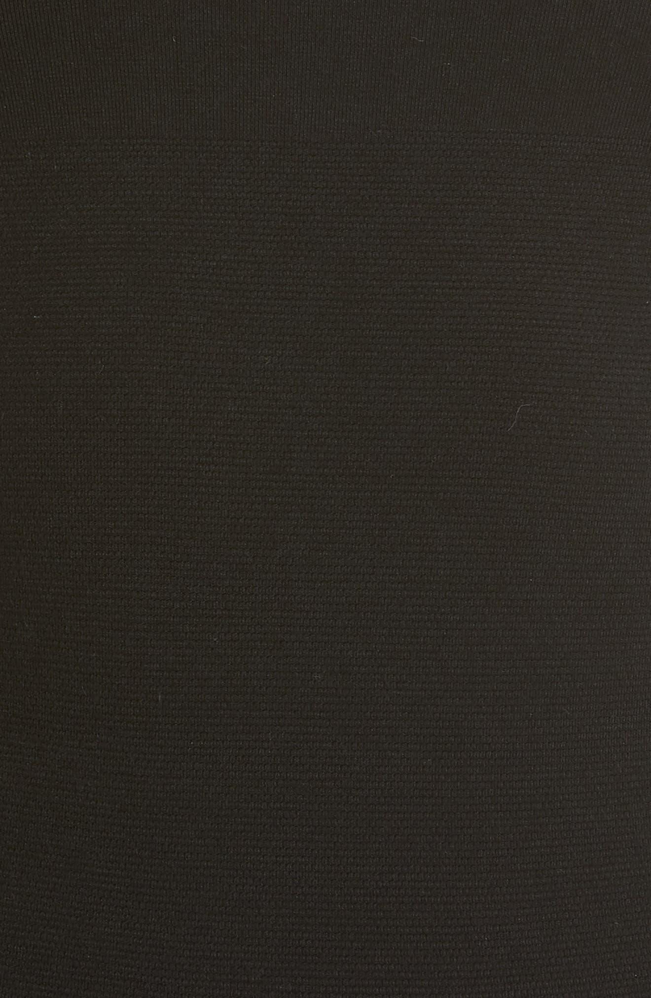 Scoop Neck Bodysuit,                             Alternate thumbnail 5, color,                             BLACK