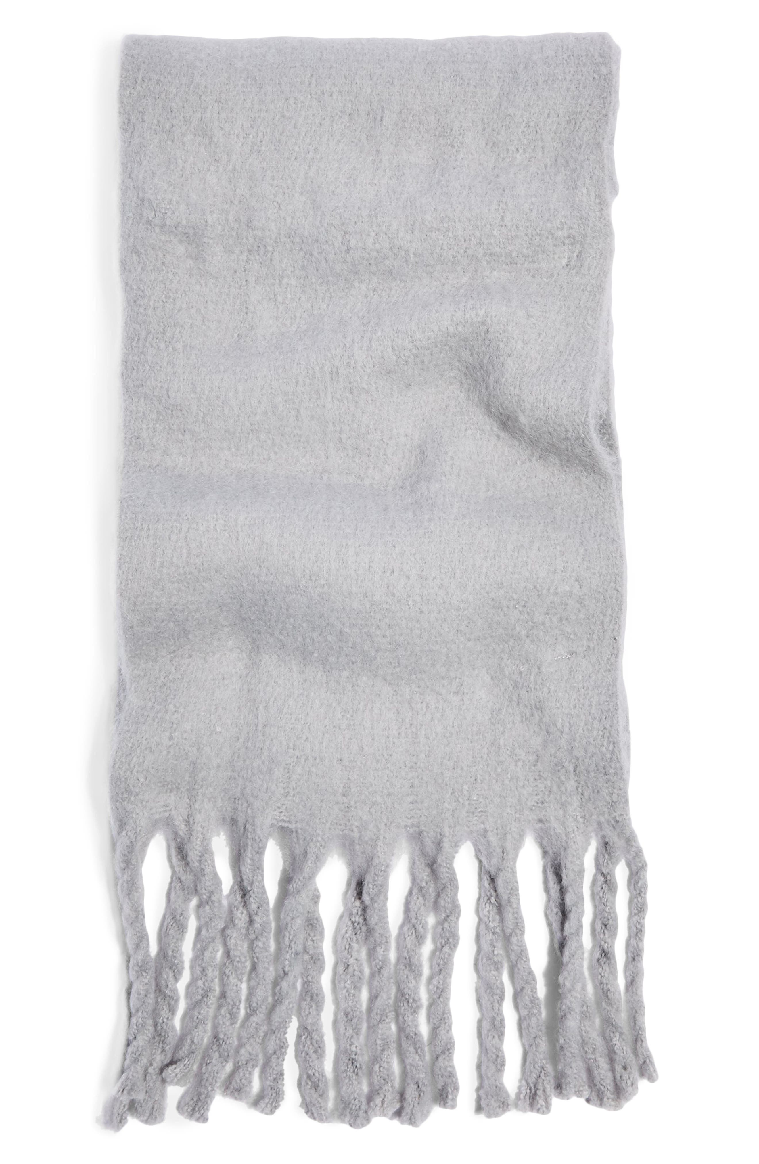 TOPSHOP,                             Heavy Brushed Scarf,                             Alternate thumbnail 2, color,                             050