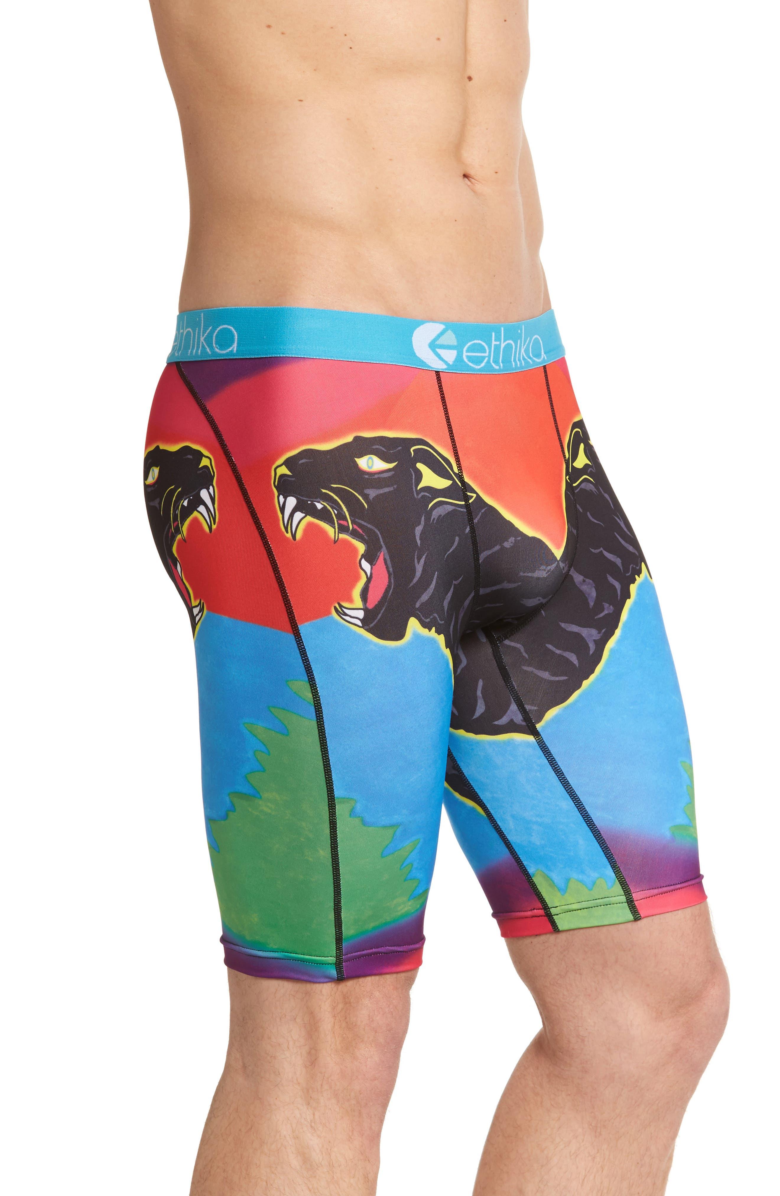 Jungle Cat Stretch Boxer Briefs,                             Alternate thumbnail 3, color,                             401