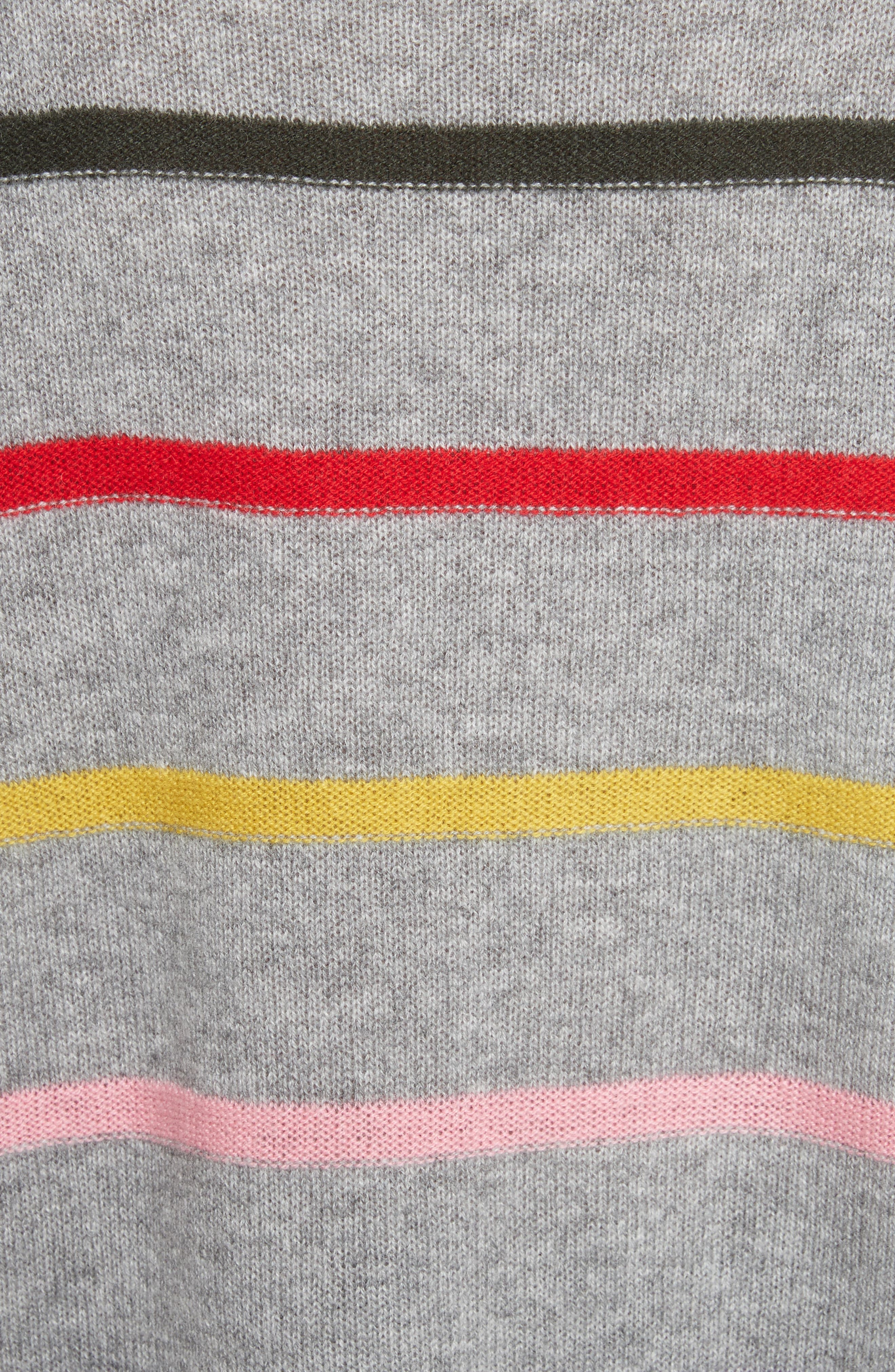Stripe Cashmere Sweater,                             Alternate thumbnail 5, color,                             021