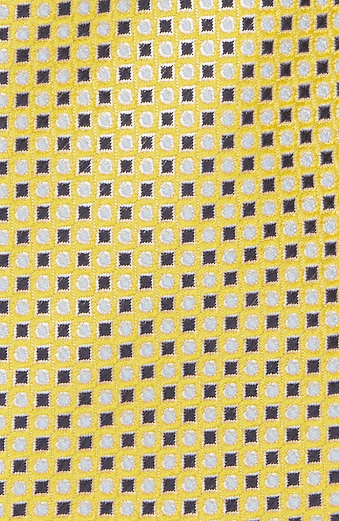 Diamonds & Dots Print Silk Tie,                             Alternate thumbnail 6, color,