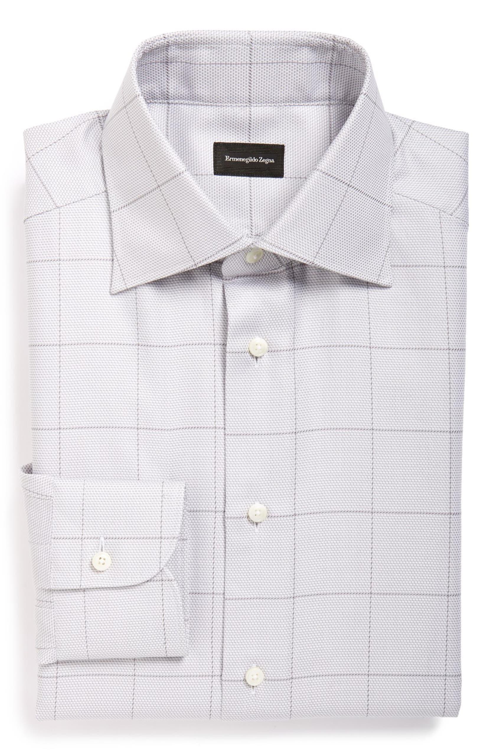 Ermenegildo Zegna Regular Fit Check Dress Shirt Nordstrom