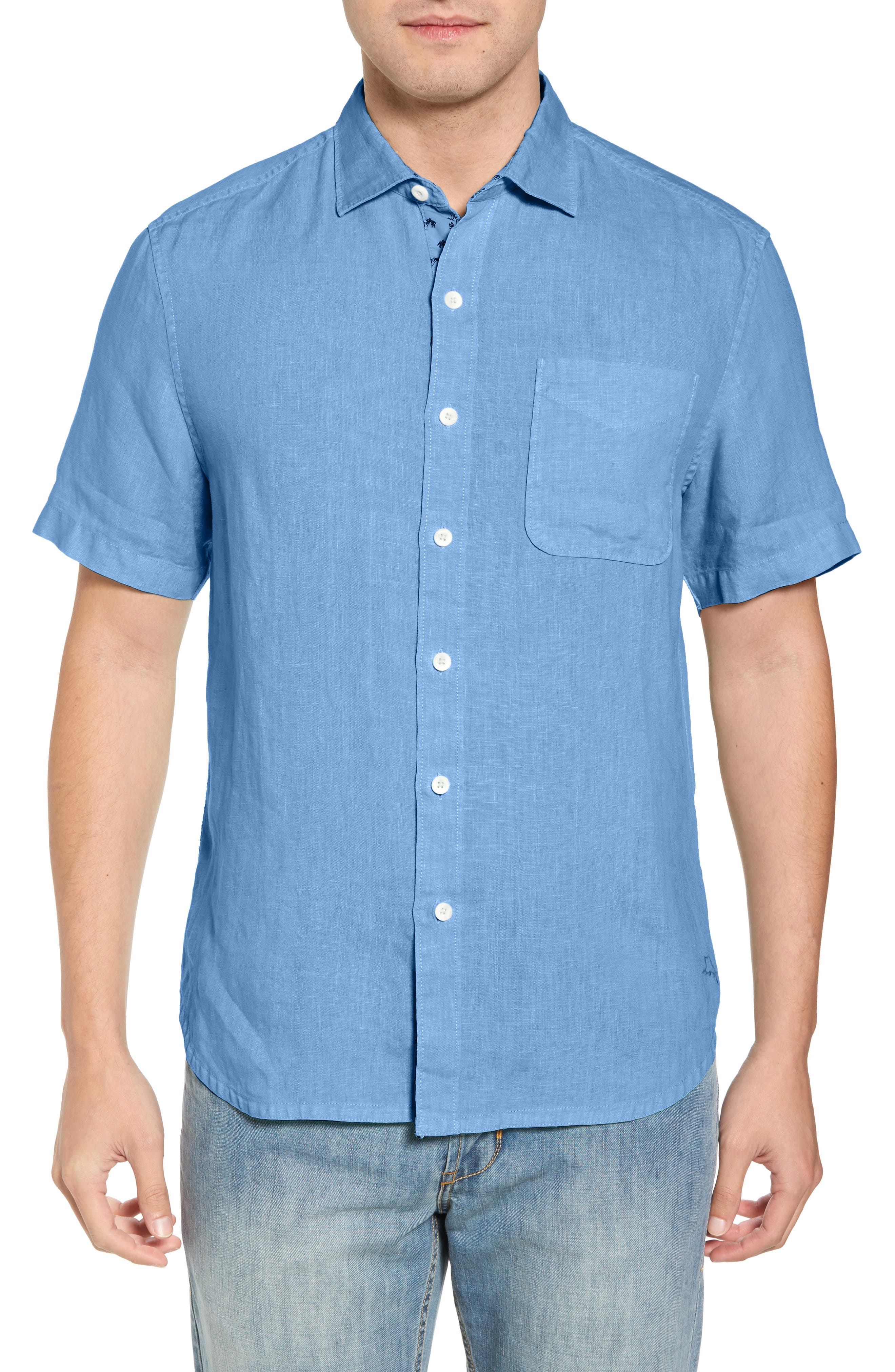 Seaspray Breezer Regular Fit Linen Sport Shirt,                             Main thumbnail 4, color,