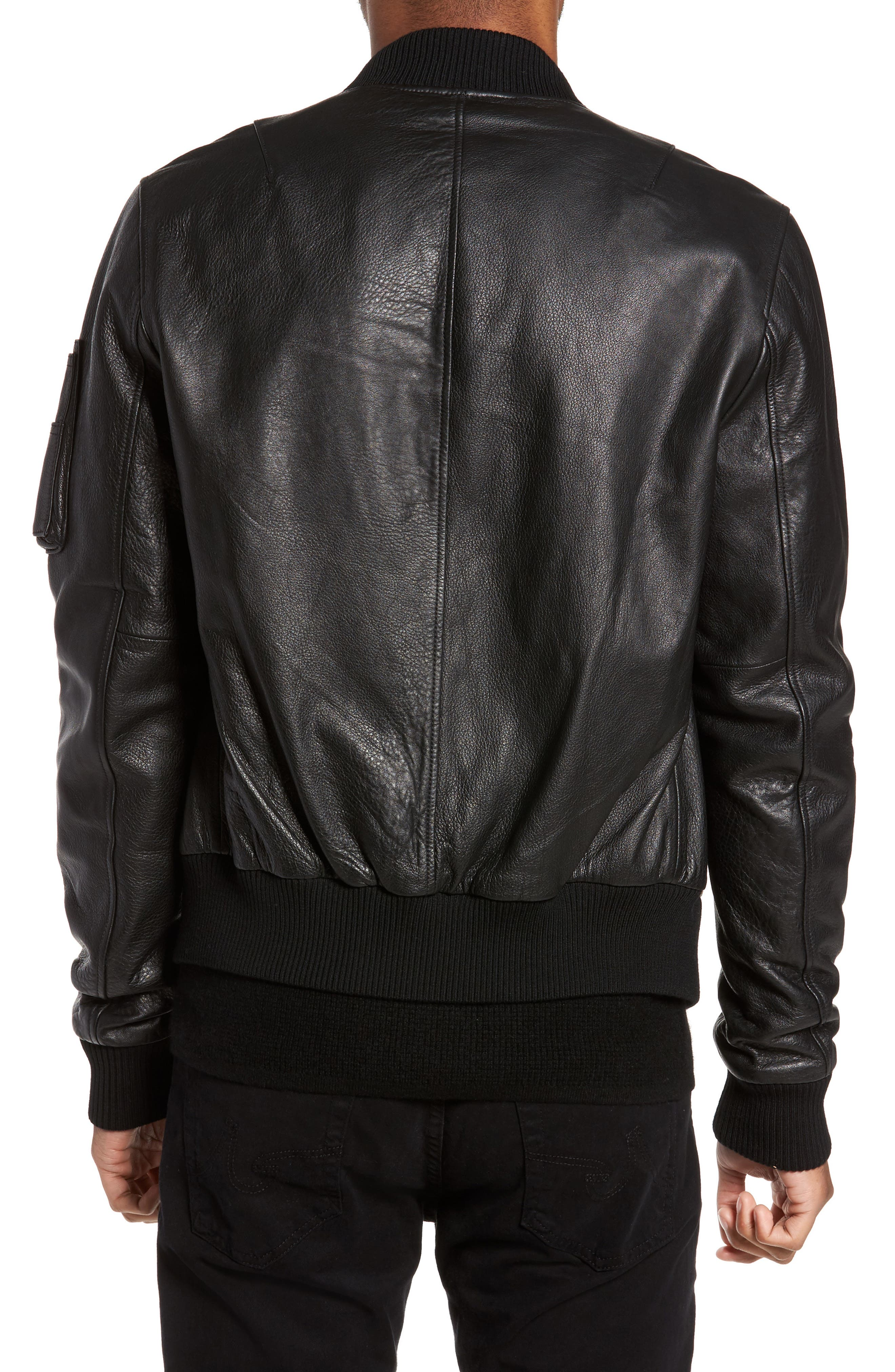 Lambskin Bomber Jacket,                             Alternate thumbnail 2, color,                             001