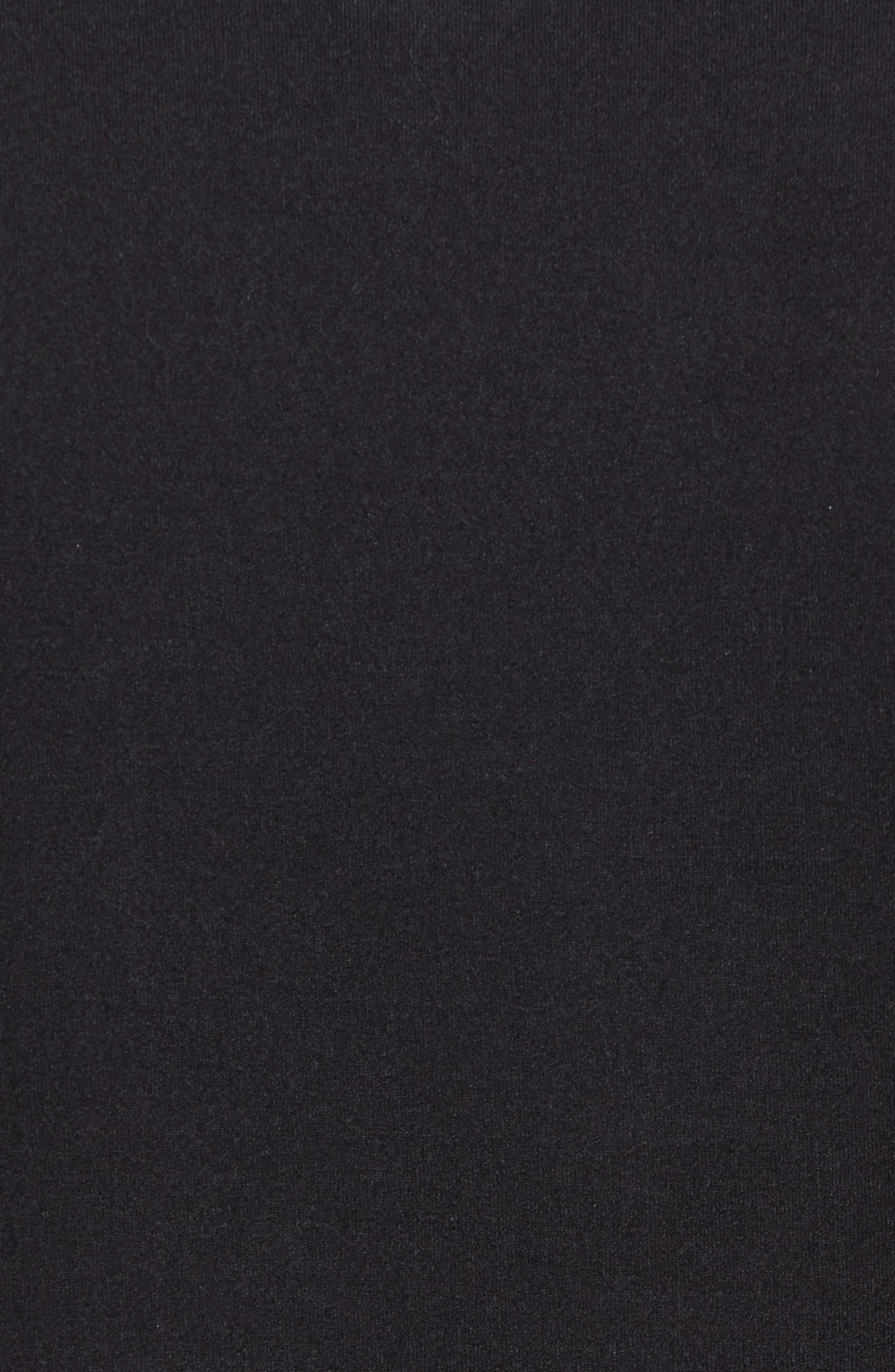 Longline Crewneck T-Shirt,                             Alternate thumbnail 5, color,                             001