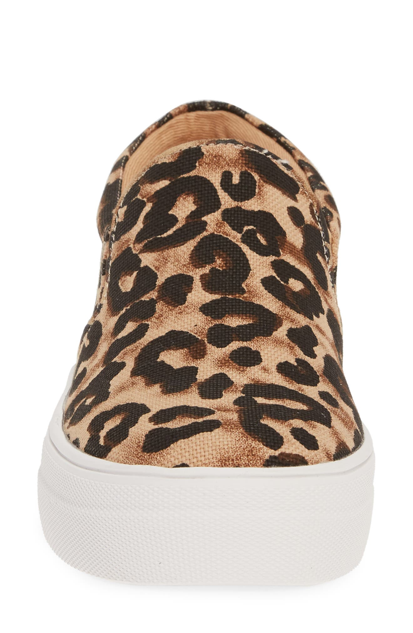 STEVE MADDEN,                             Gills Platform Slip-On Sneaker,                             Alternate thumbnail 4, color,                             LEOPARD PRINT