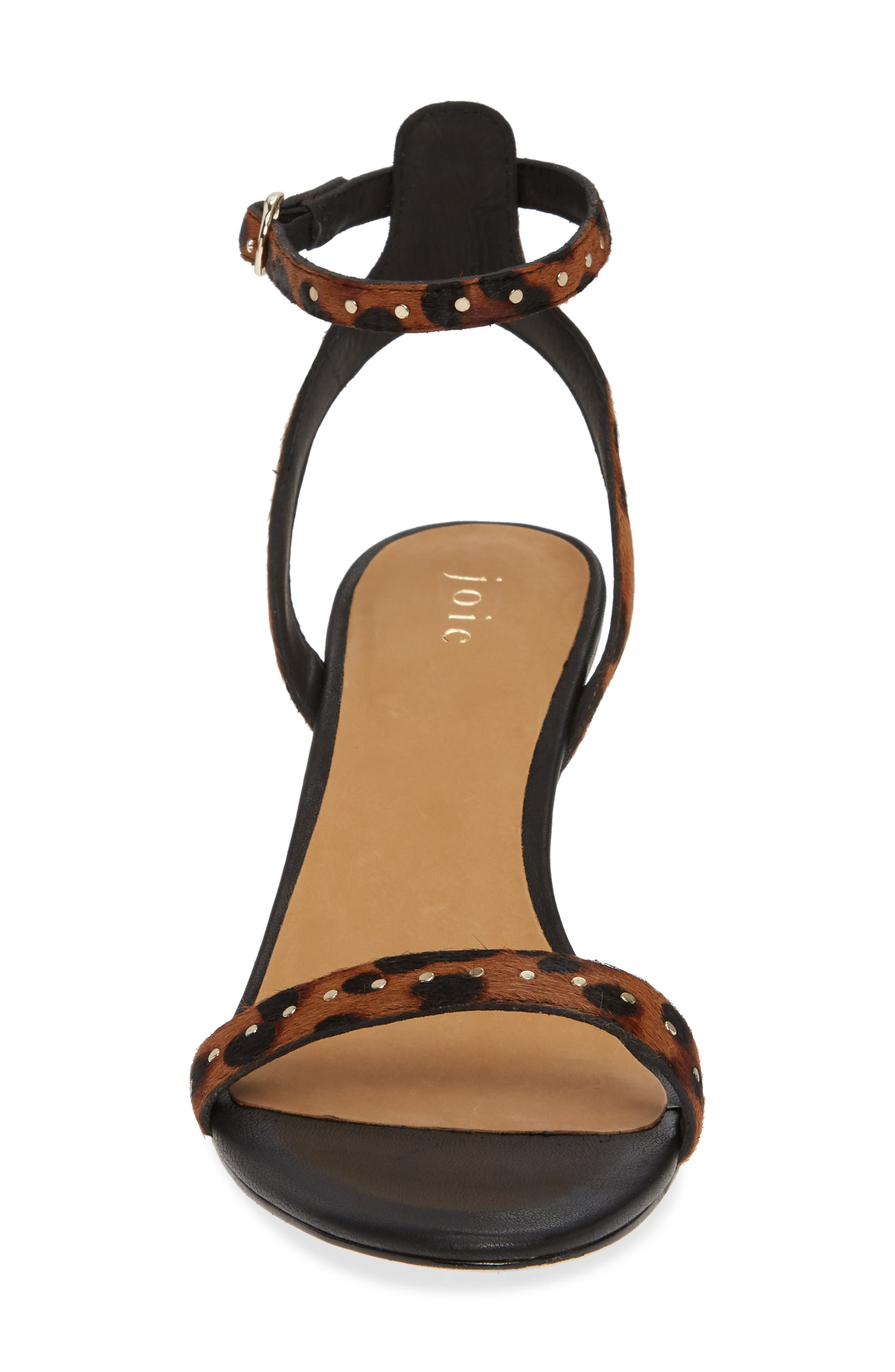 Malina Genuine Calf Hair Sandal,                             Alternate thumbnail 4, color,                             LEOPARD