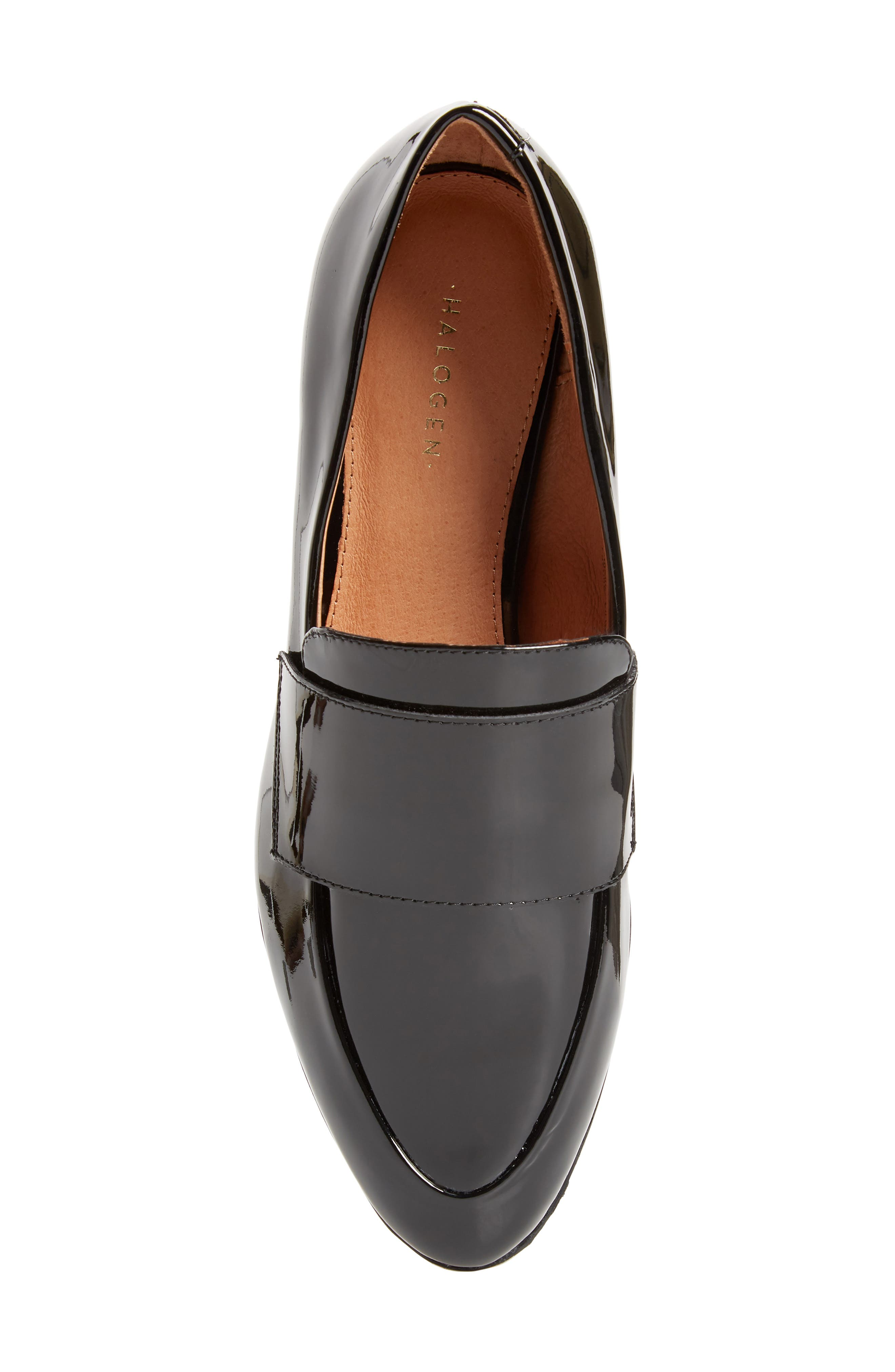 Emilia Loafer,                             Alternate thumbnail 5, color,                             BLACK PATENT LEATHER
