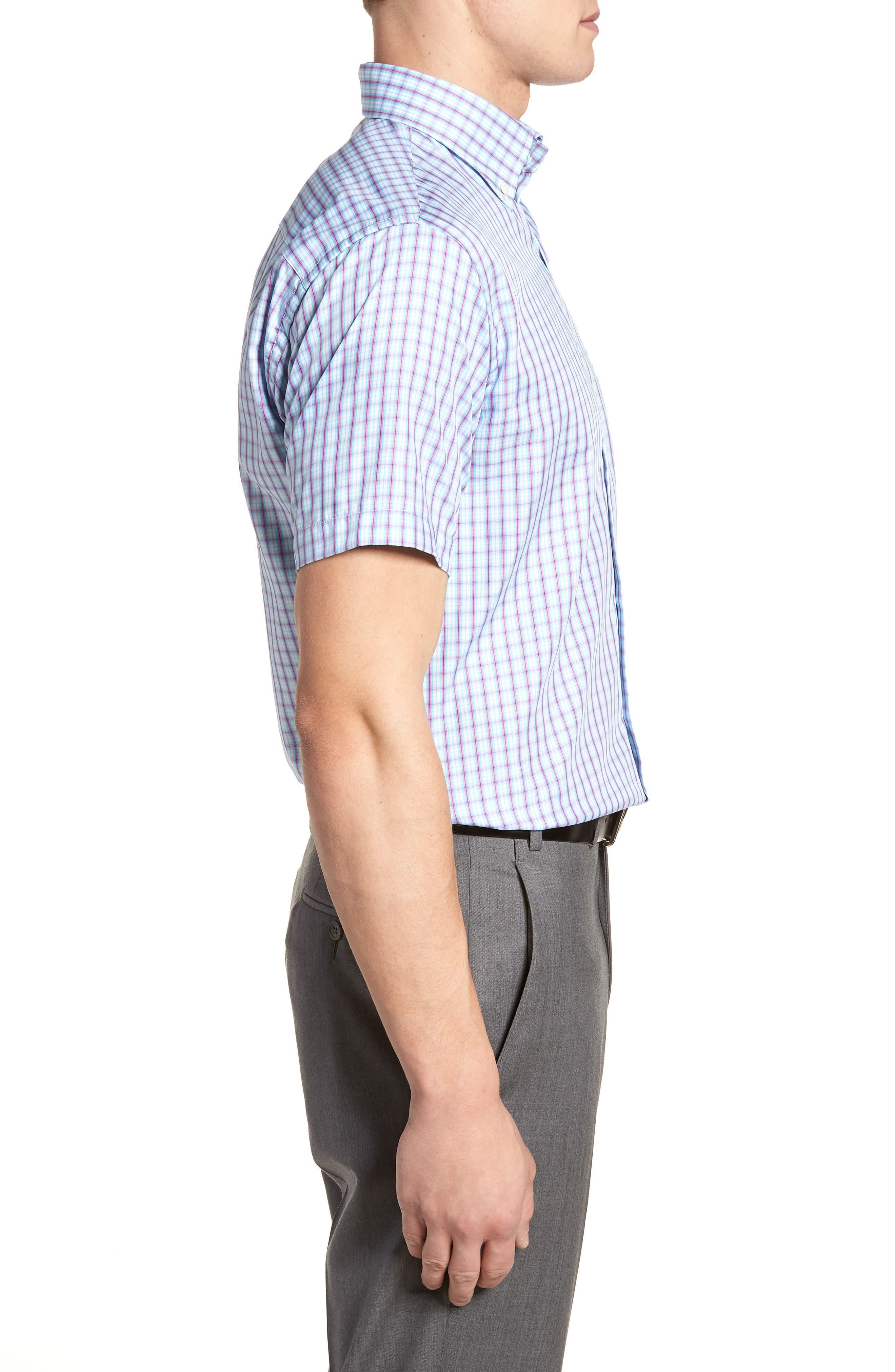 Crown Soft Carlsplaid Regular Fit Sport Shirt,                             Alternate thumbnail 3, color,                             URCHIN