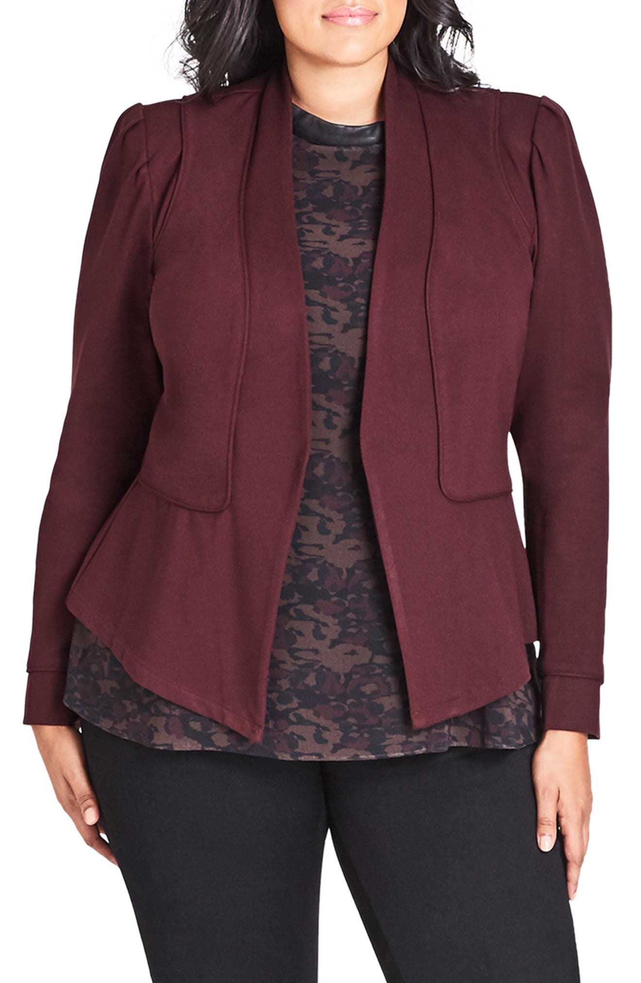 Piping Praise Jacket,                         Main,                         color, OX BLOOD