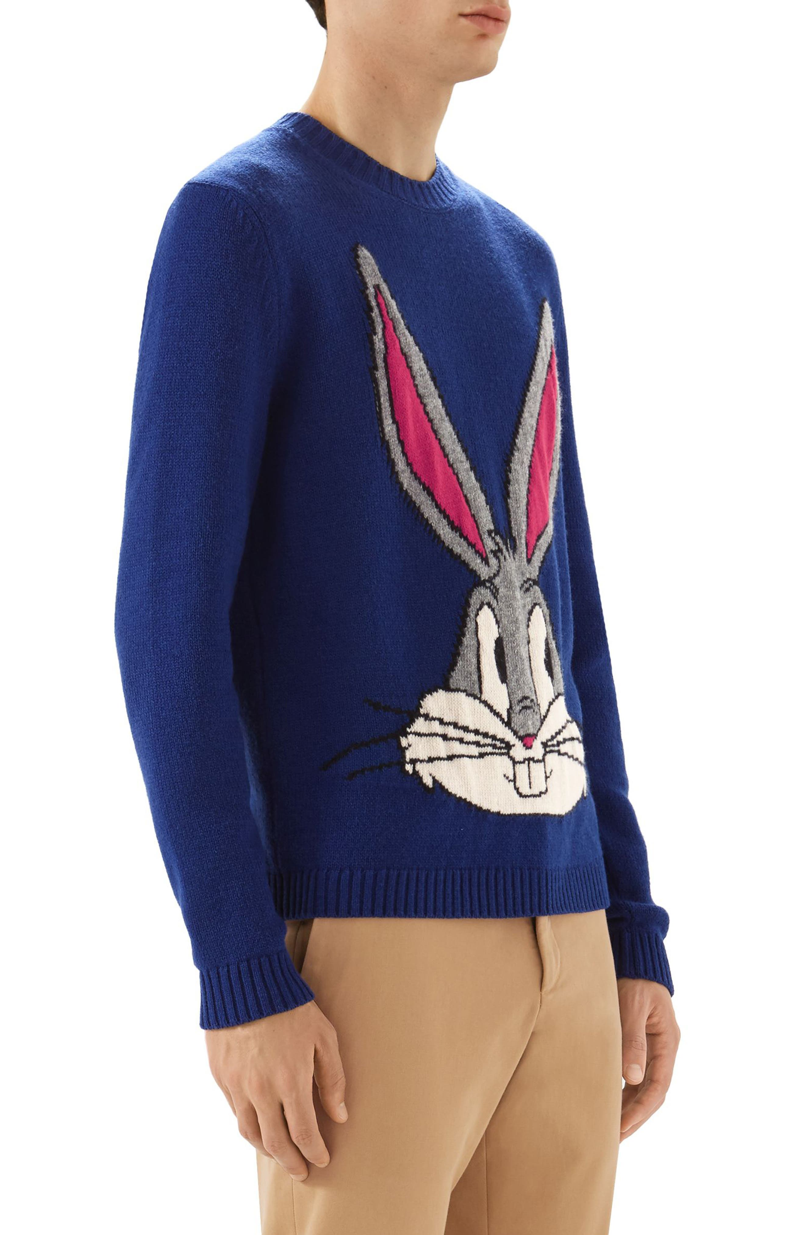 Bugs Bunny Wool Sweater,                             Alternate thumbnail 3, color,                             493