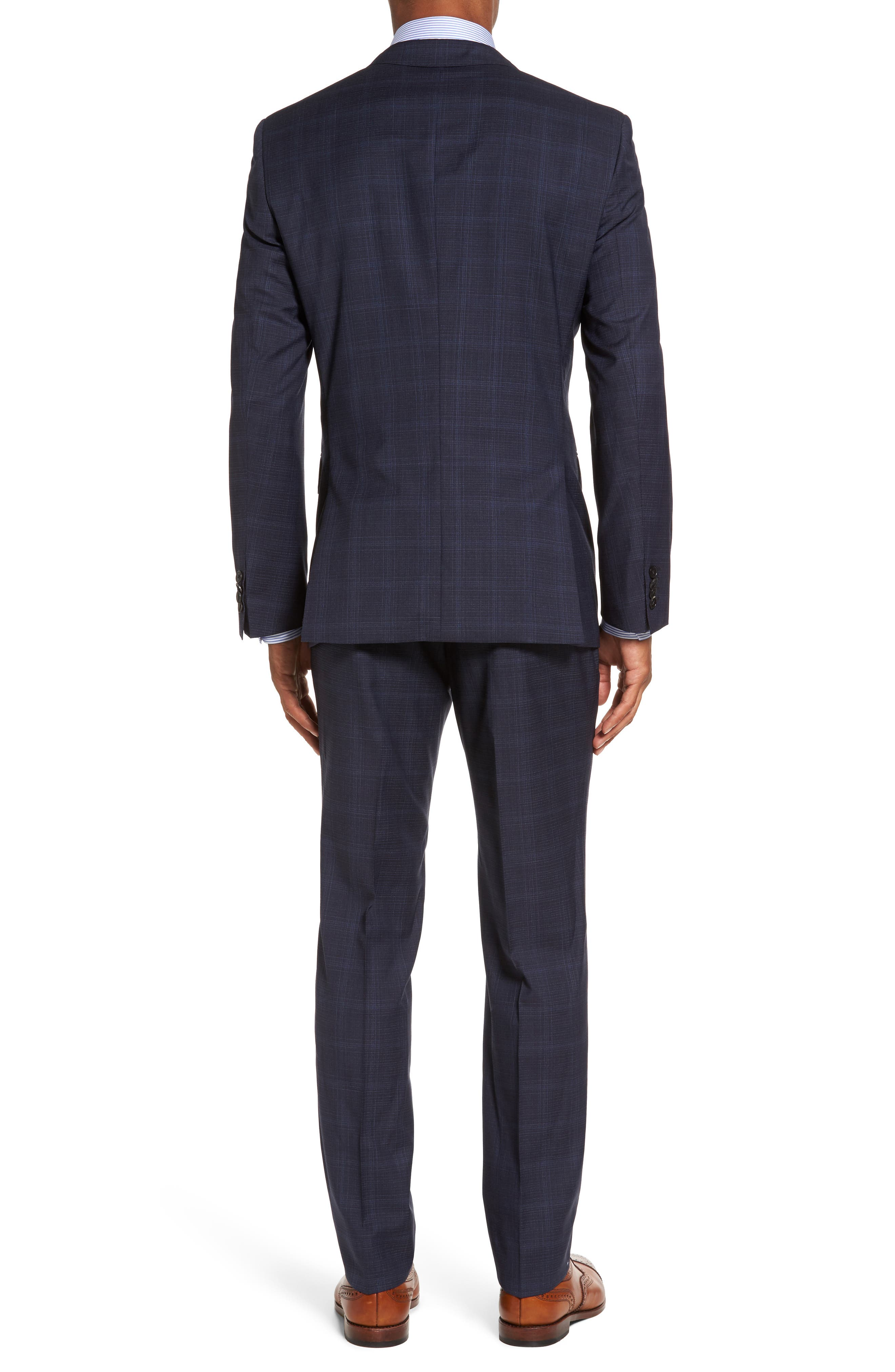 Huge/Genius Trim Fit Plaid Wool Suit,                             Alternate thumbnail 2, color,                             410